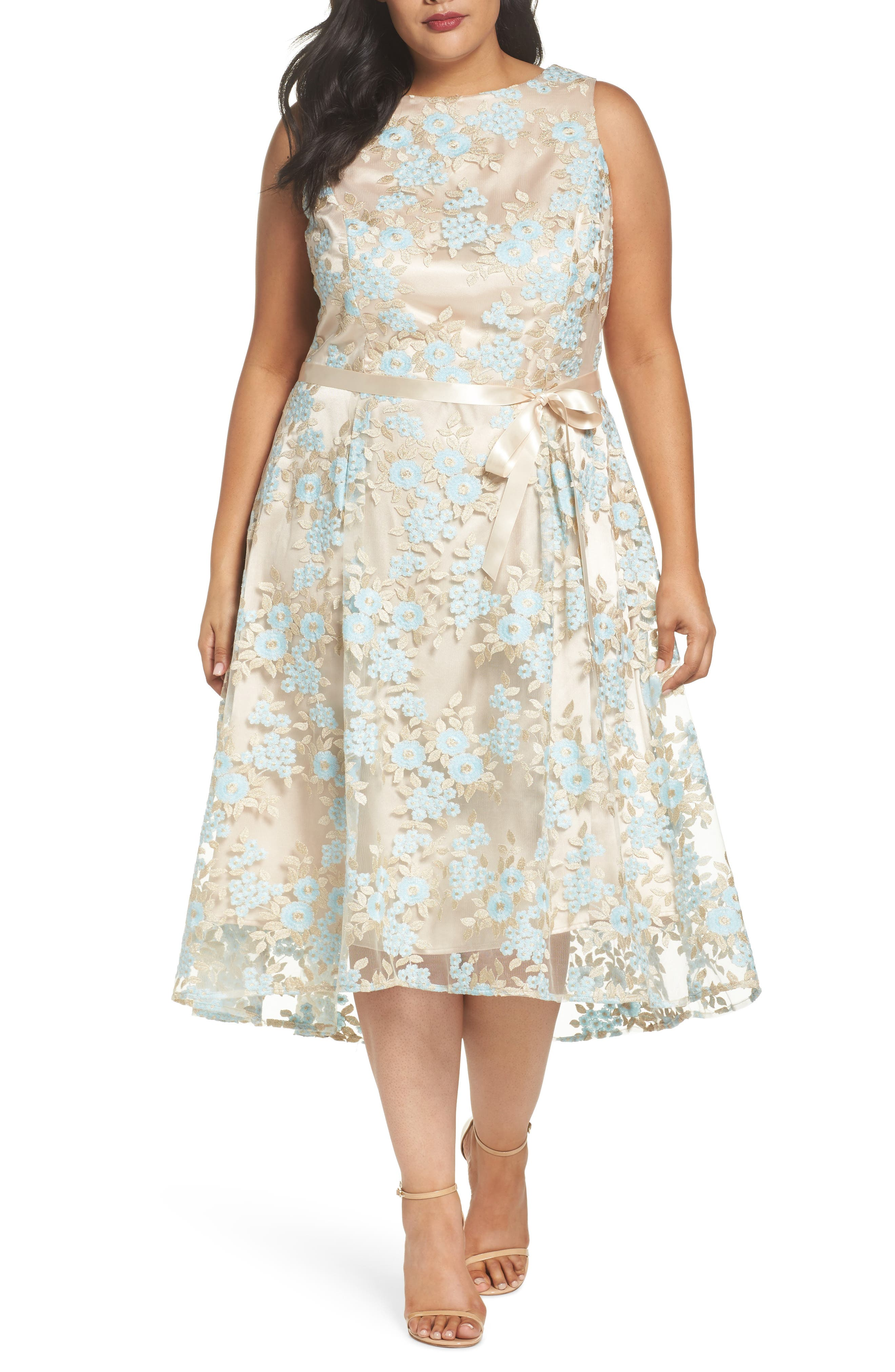 Lace Sleeveless Dress,                             Main thumbnail 1, color,                             434