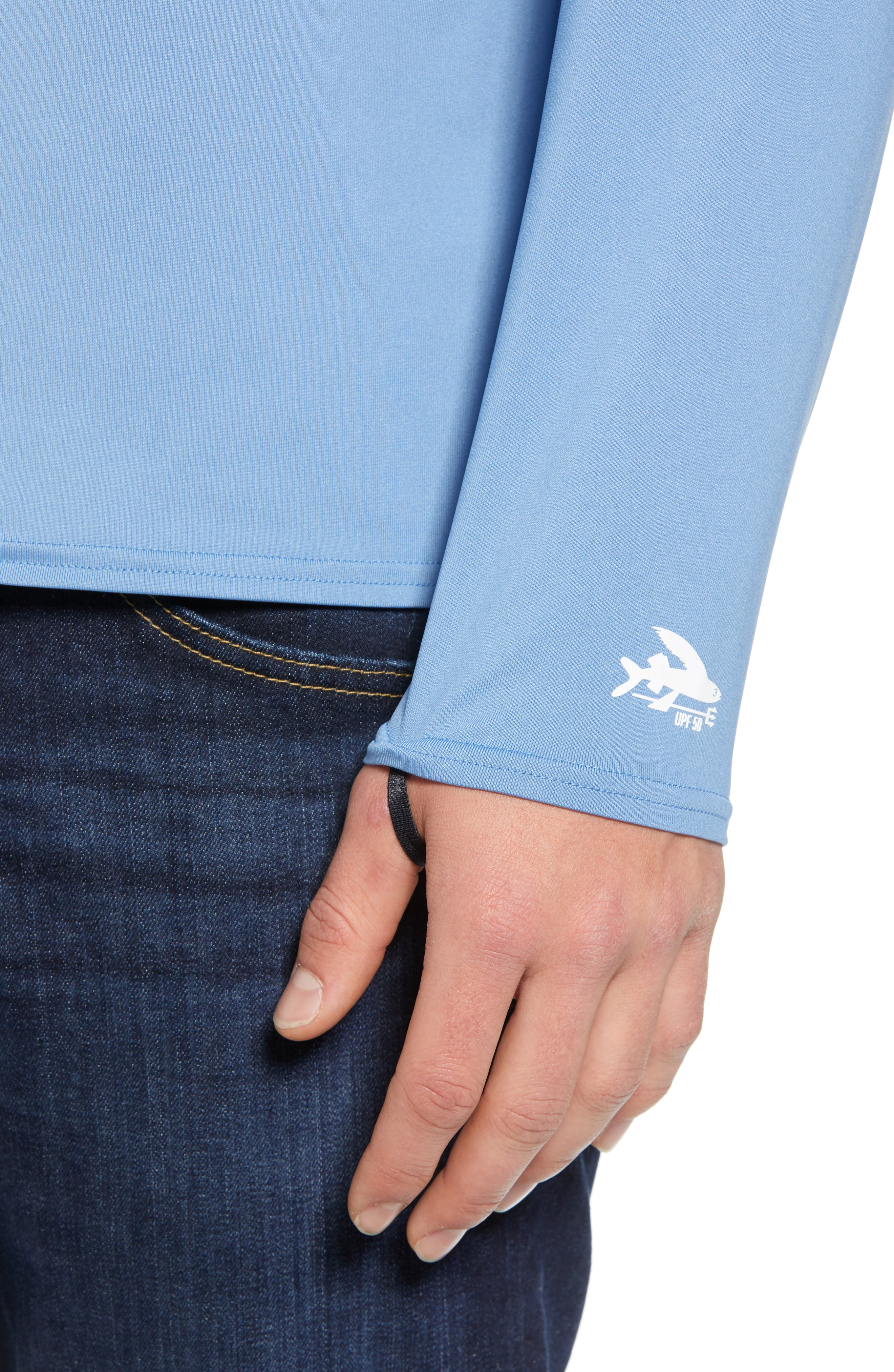 RØ<sup>®</sup> Sun Long Sleeve T-Shirt,                             Alternate thumbnail 4, color,                             BOARDSHORT LOGO/ RAILROAD BLUE