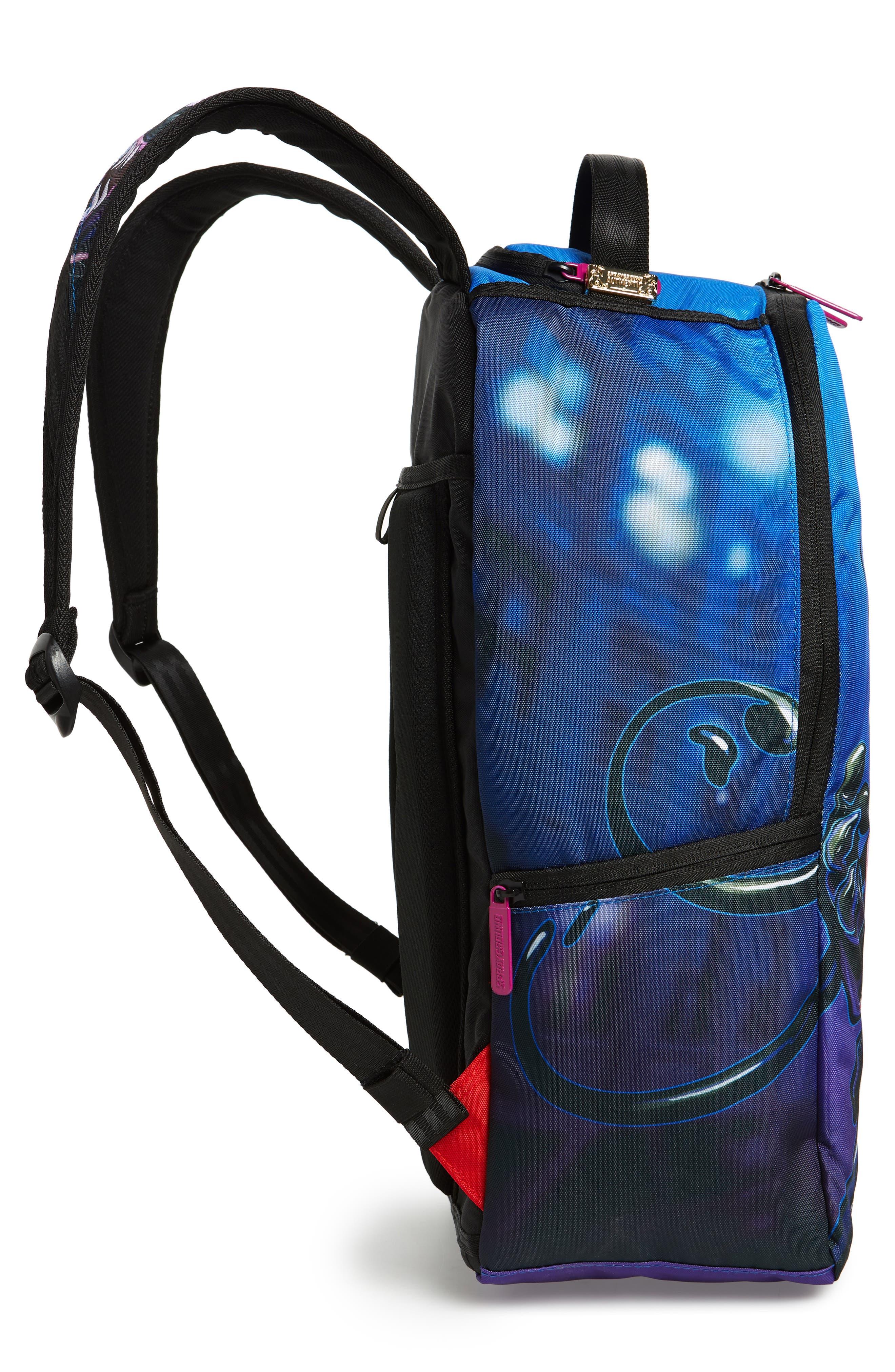 Villain Bear Print Backpack,                             Alternate thumbnail 5, color,                             400