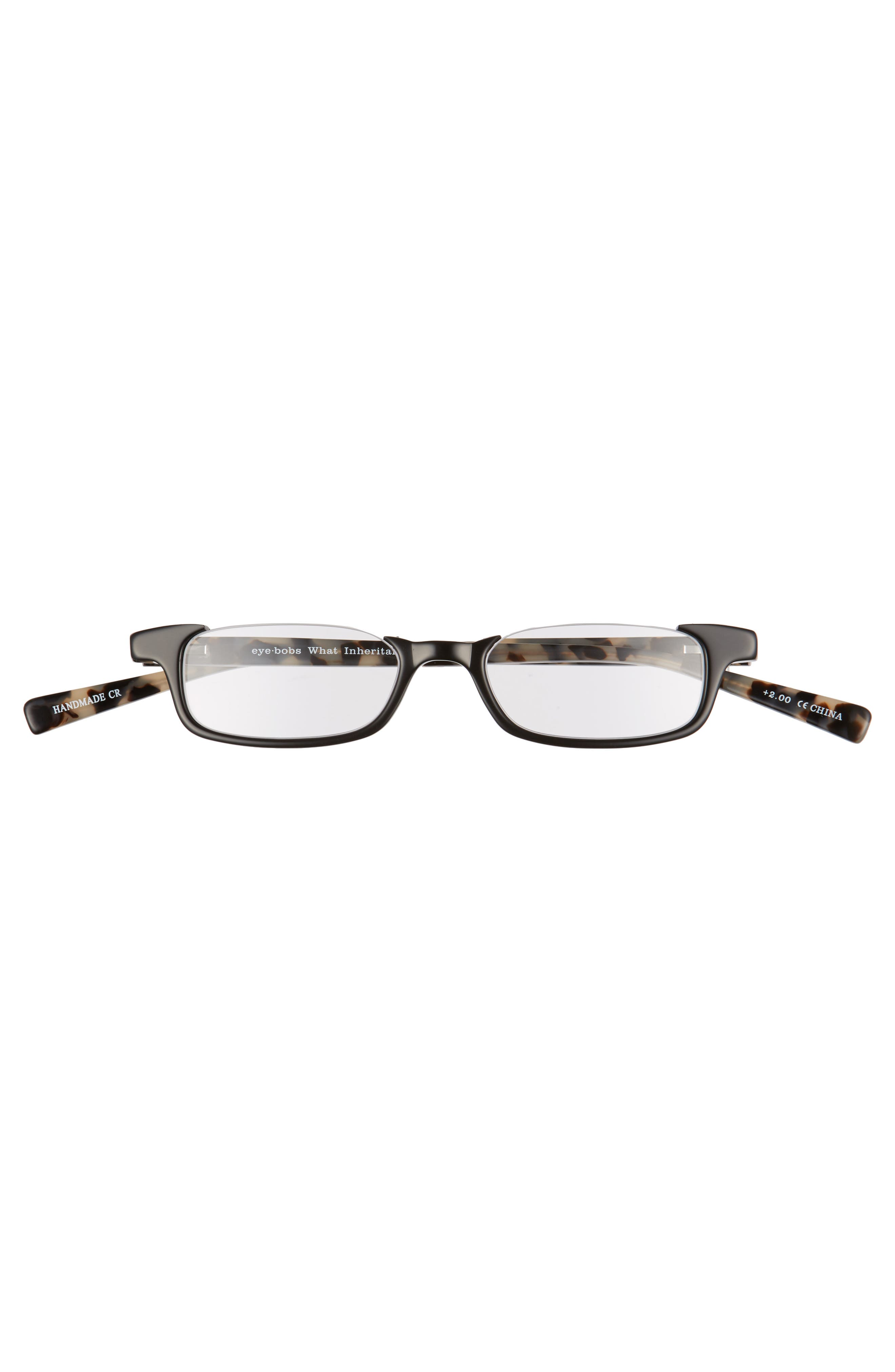 What Inheritance 46mm Reading Glasses,                             Alternate thumbnail 2, color,                             BLACK WITH TORTOISE