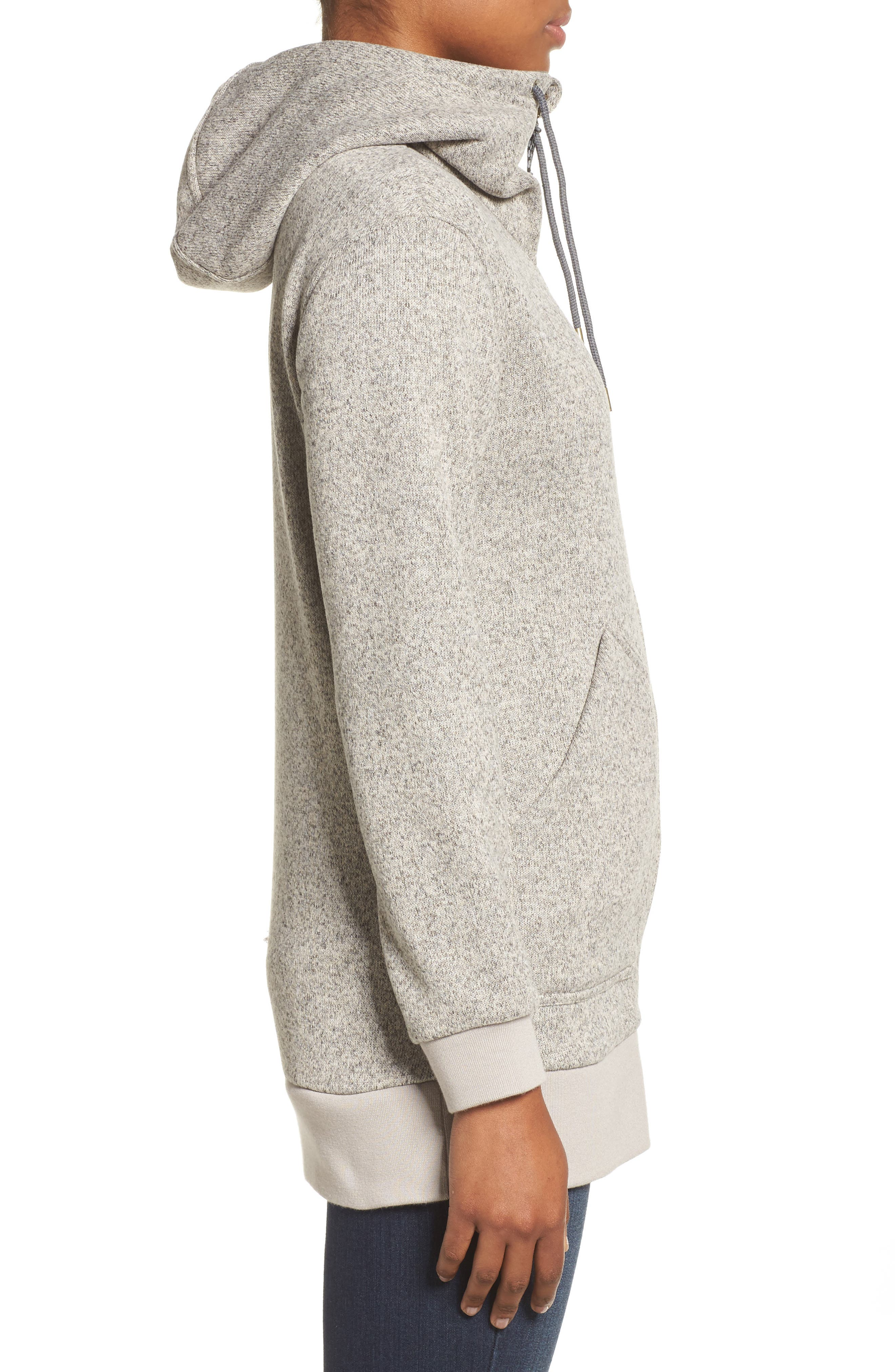 Minxy DRYRIDE Thermex Sweater Knit Fleece Hoodie,                             Alternate thumbnail 3, color,                             020