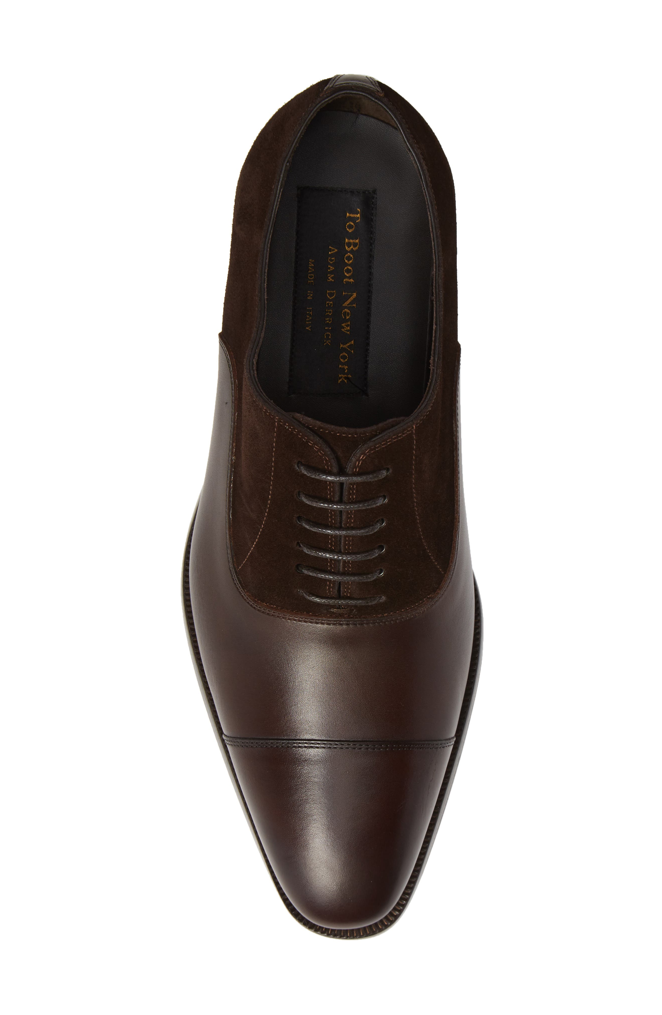 Amadora Cap Toe Oxford,                             Alternate thumbnail 5, color,                             BERRY/ BROWN LEATHER