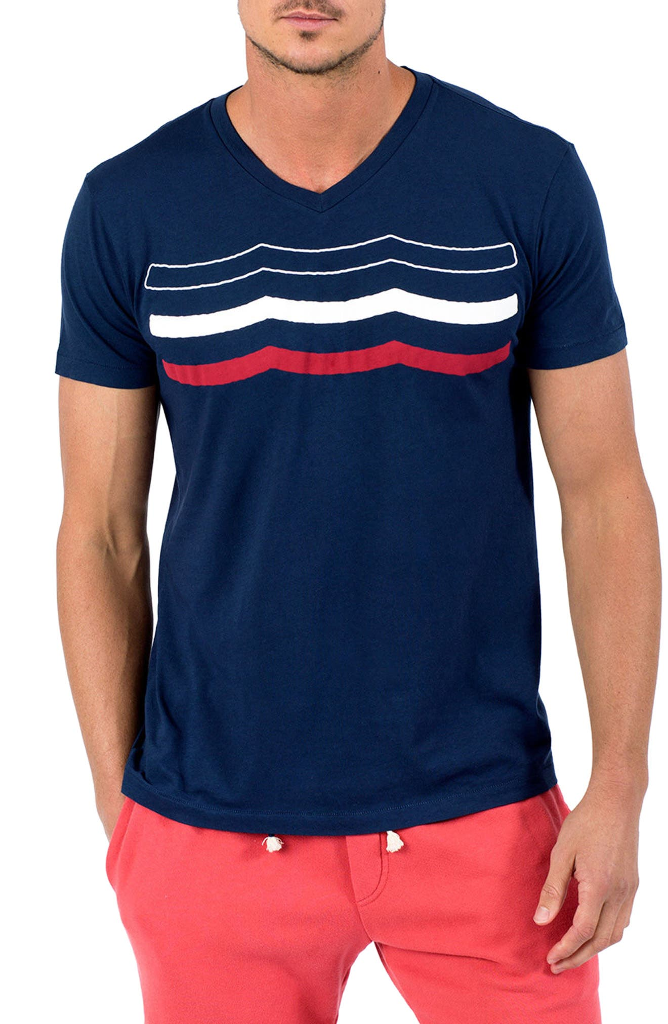 Americana Waves T-Shirt,                             Main thumbnail 1, color,                             401