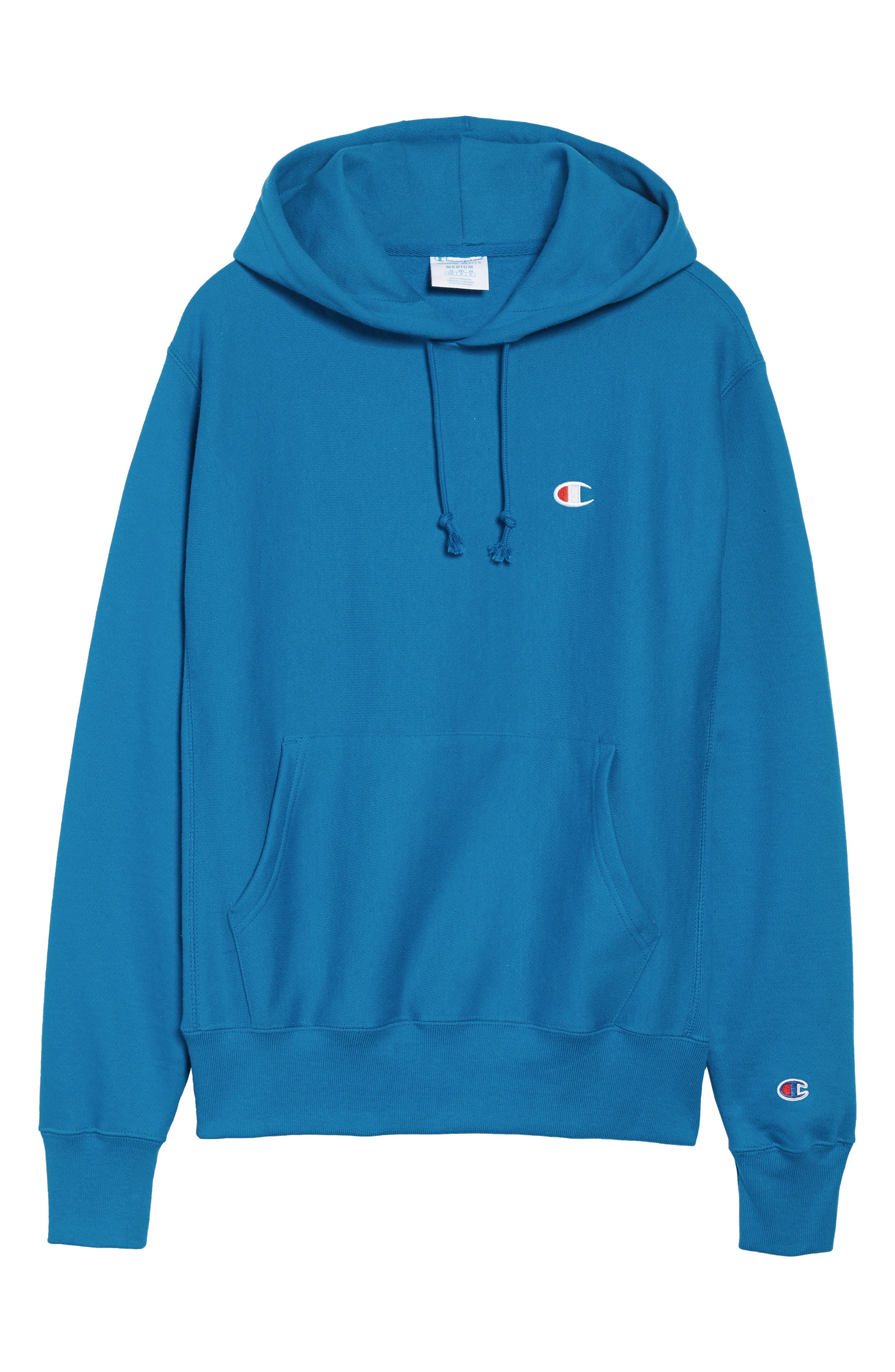 Reverse Weave<sup>®</sup> Pullover Hoodie,                             Alternate thumbnail 6, color,                             DEEP HOTLINE BLUE