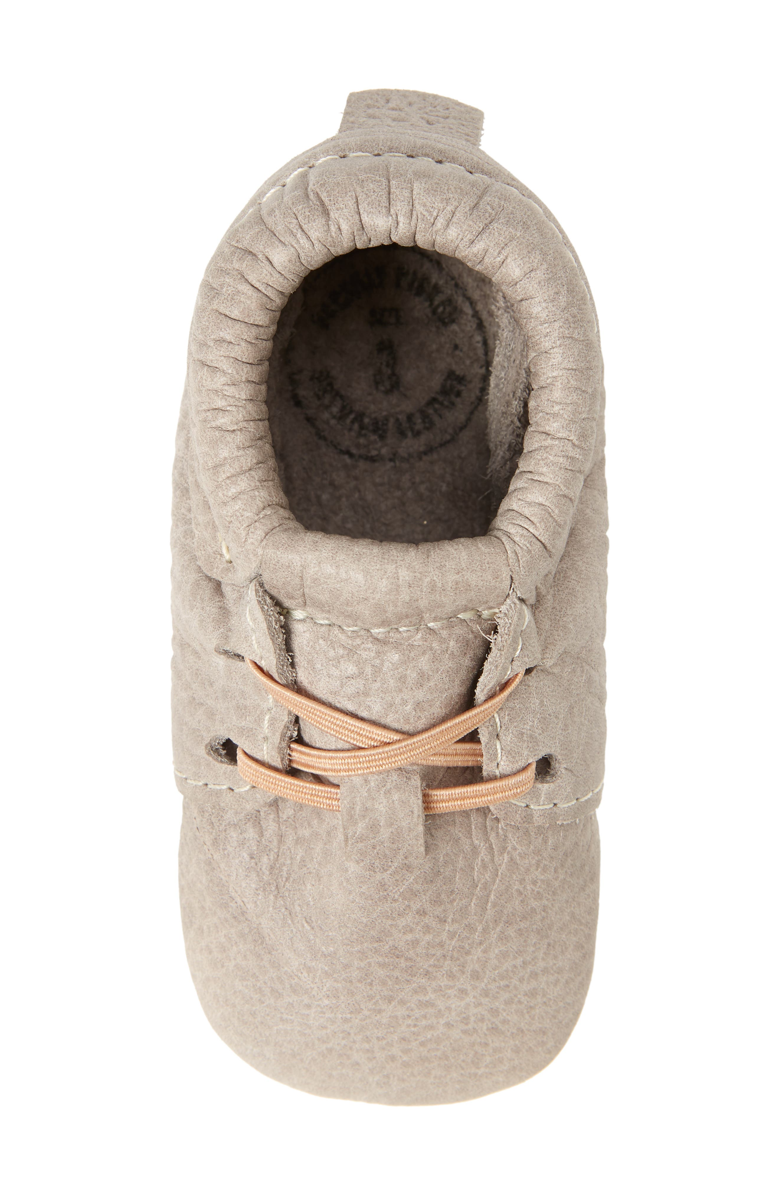 Oxford Crib Shoe,                             Alternate thumbnail 5, color,                             GRAY