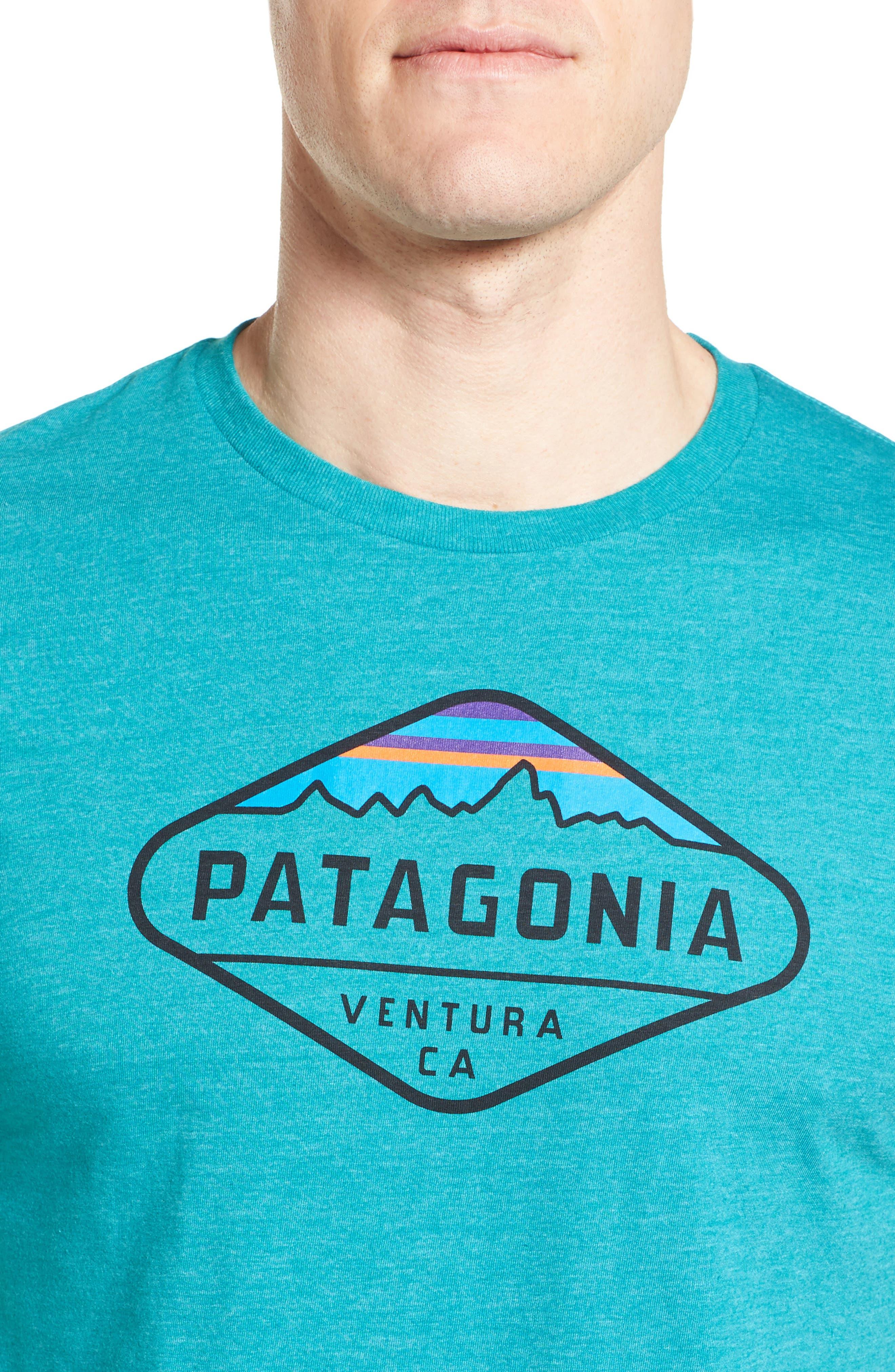 'Fitz Roy Crest' Slim Fit Organic Cotton Blend T-Shirt,                             Alternate thumbnail 30, color,