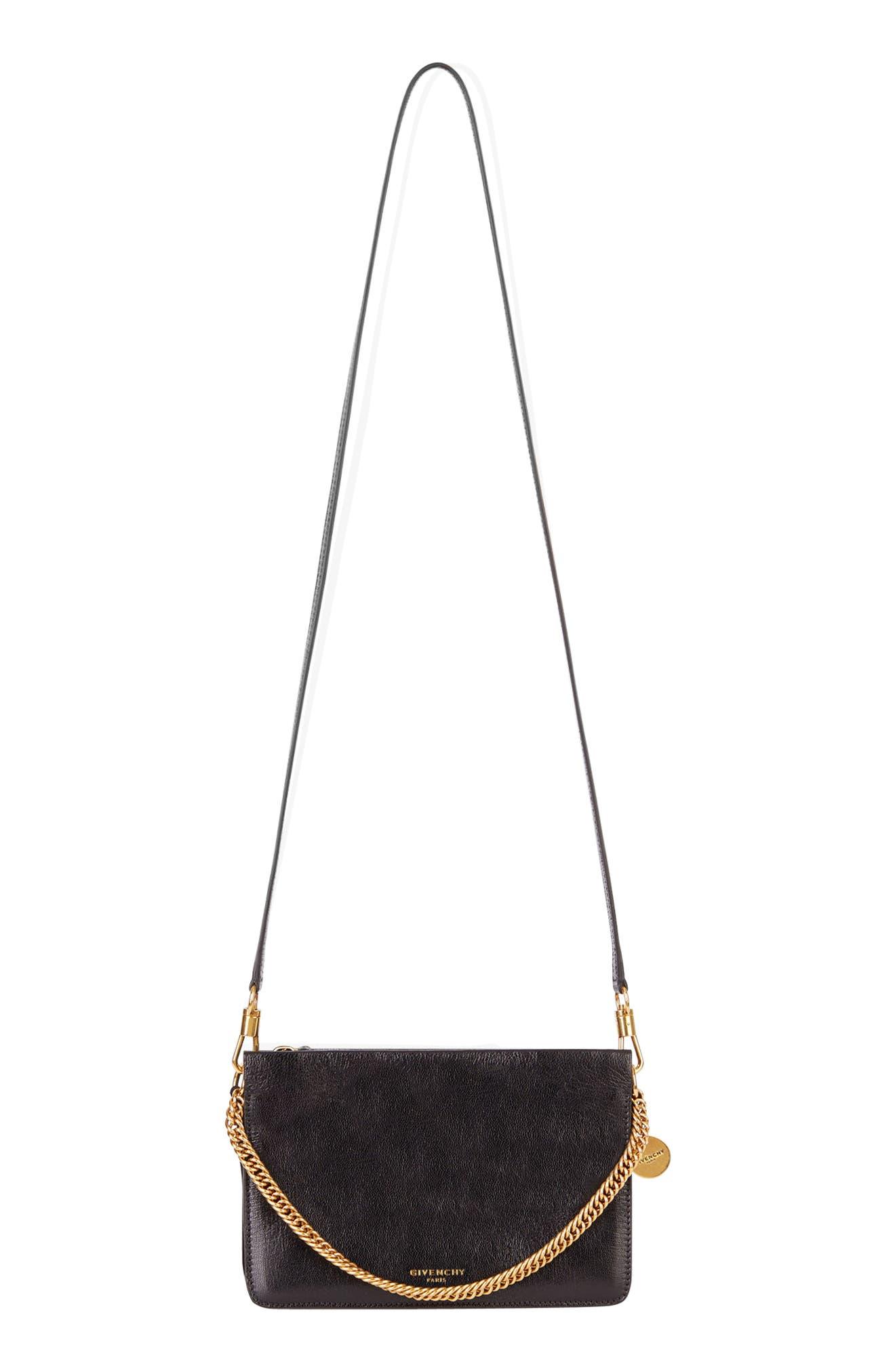 Cross 3 Leather Crossbody Bag,                             Alternate thumbnail 7, color,                             BLACK