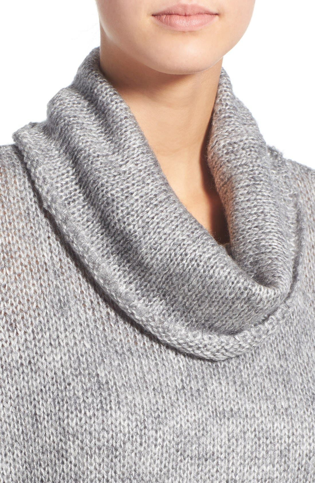 Cowl Neck High/Low Sweater,                             Alternate thumbnail 2, color,                             020