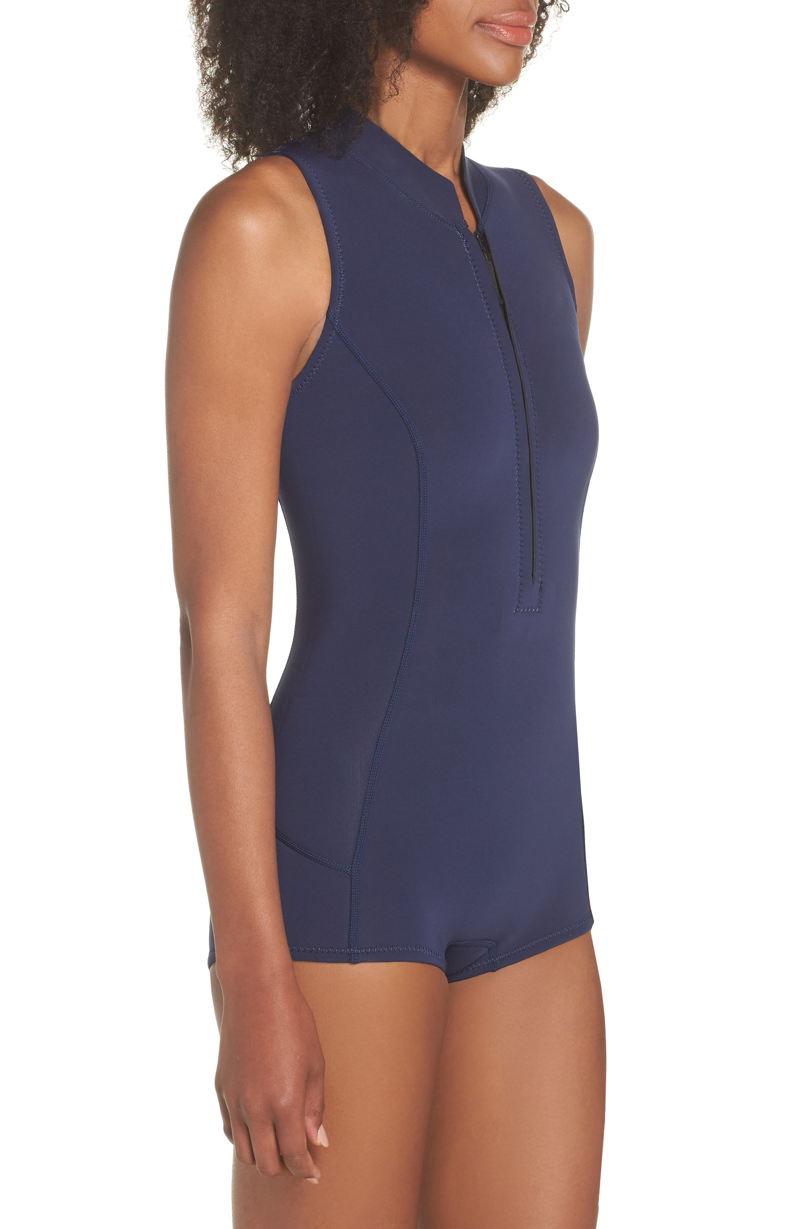 Spring Juanita Zip Front Swimsuit,                             Alternate thumbnail 3, color,                             VALLEY FLORA: ROSE