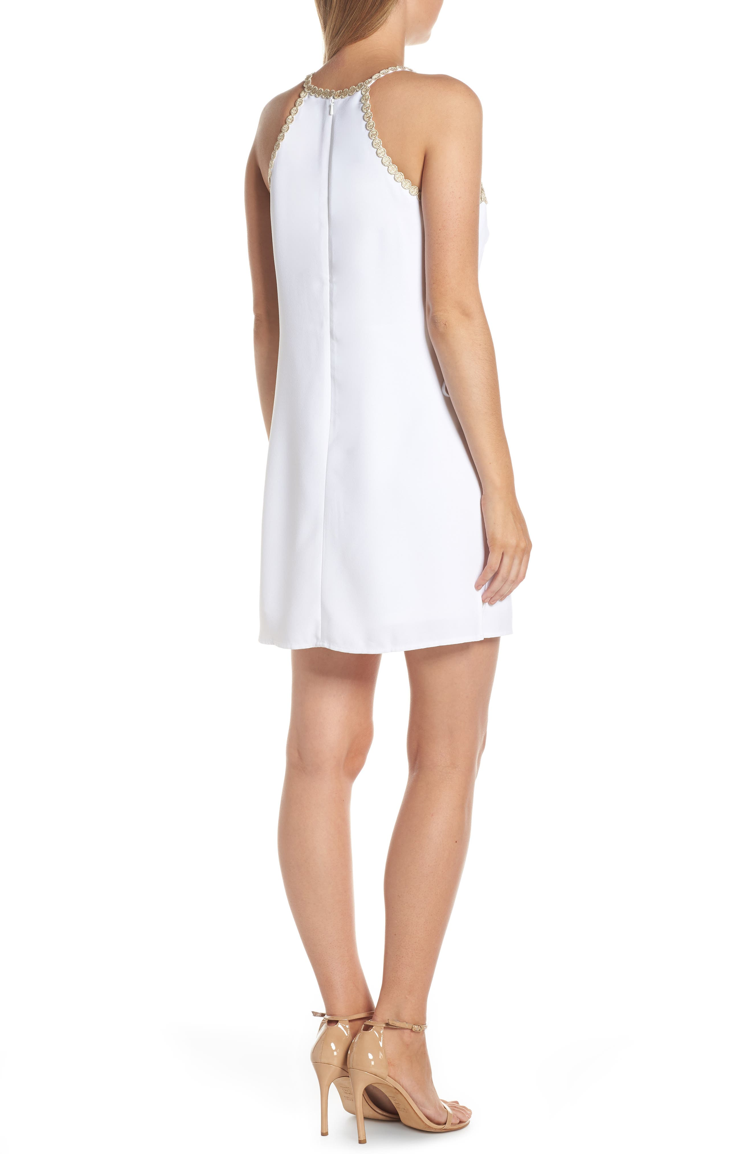 LILLY PULITZER<SUP>®</SUP>,                             Pearl Romper Dress,                             Alternate thumbnail 2, color,                             RESORT WHITE