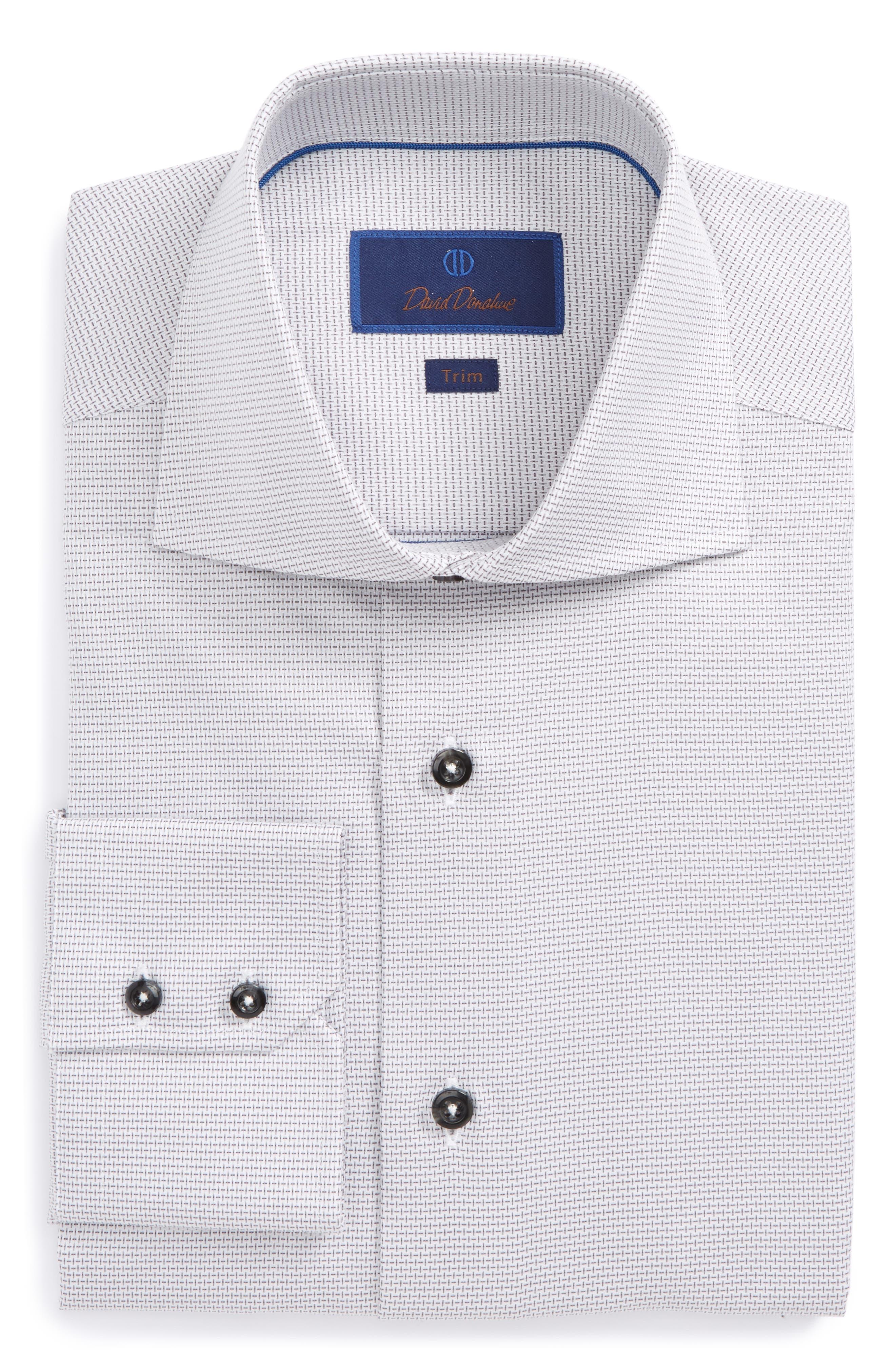 Trim Fit Patterned Dress Shirt,                             Main thumbnail 1, color,                             020