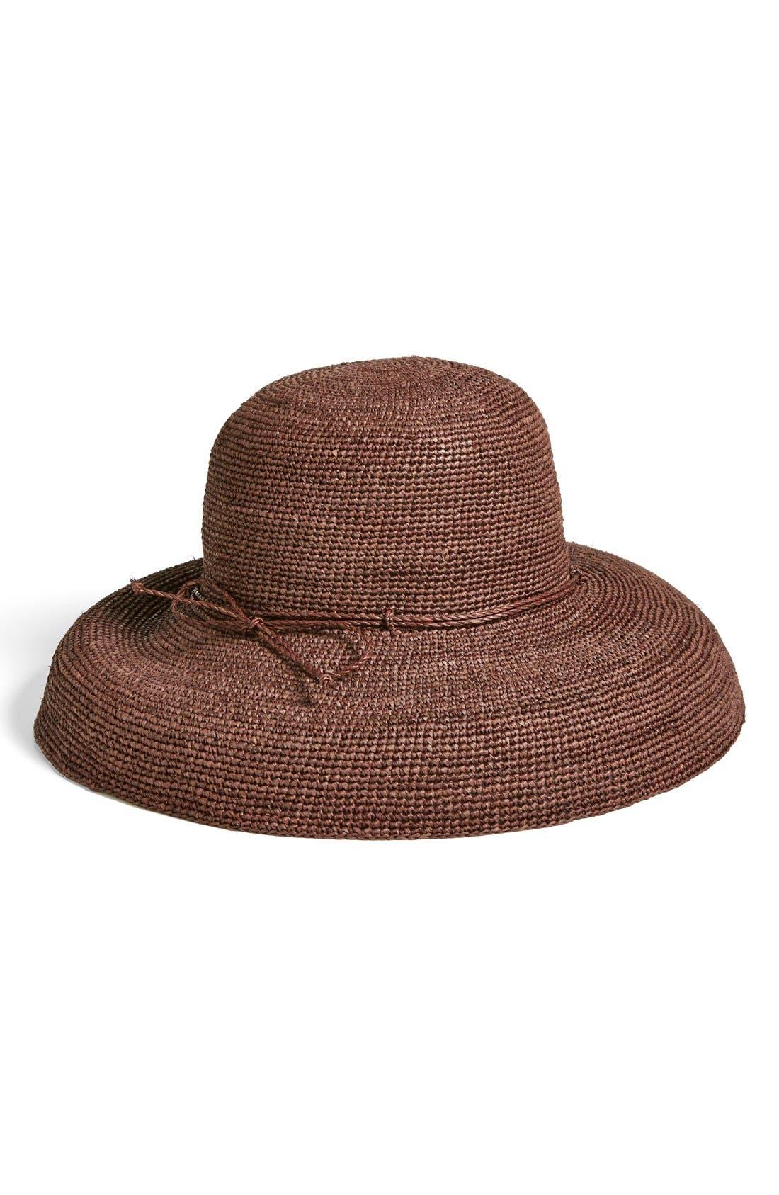 'Provence 12' Packable Raffia Hat,                             Main thumbnail 2, color,