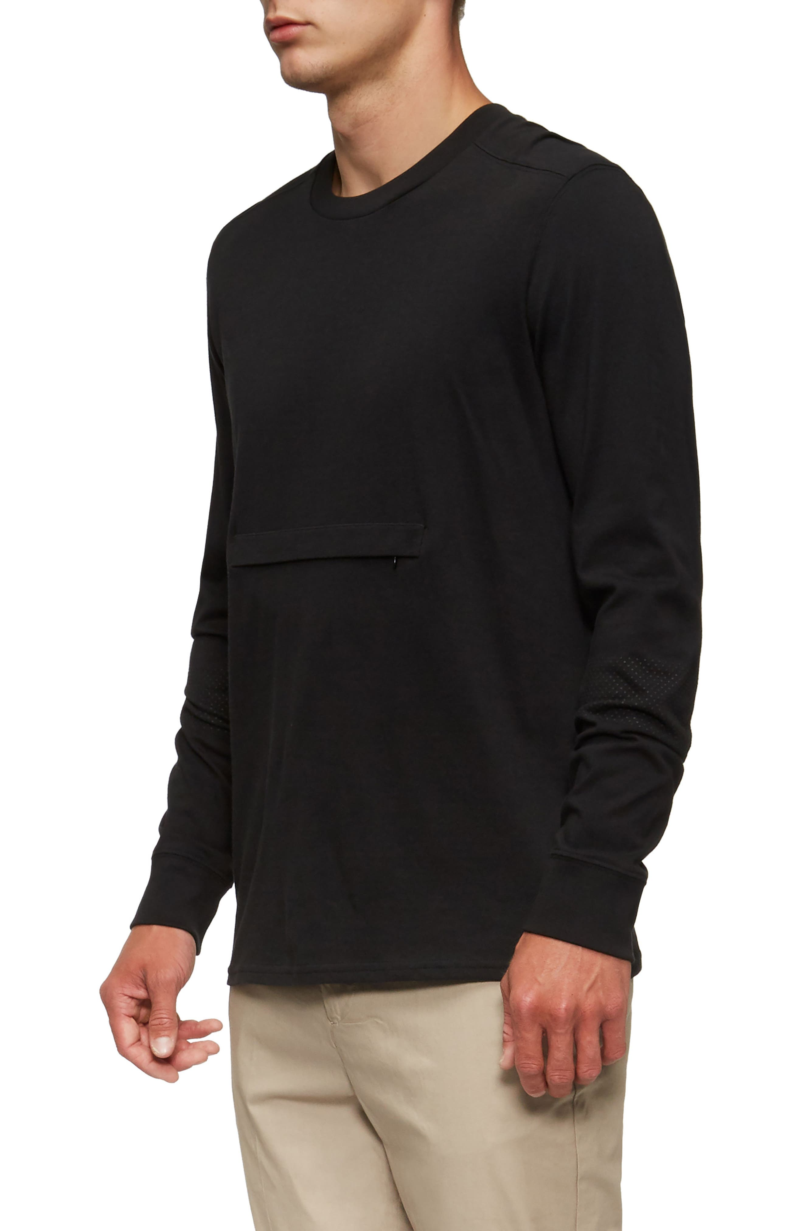 Lowell Long Sleeve T-Shirt,                             Alternate thumbnail 3, color,                             001