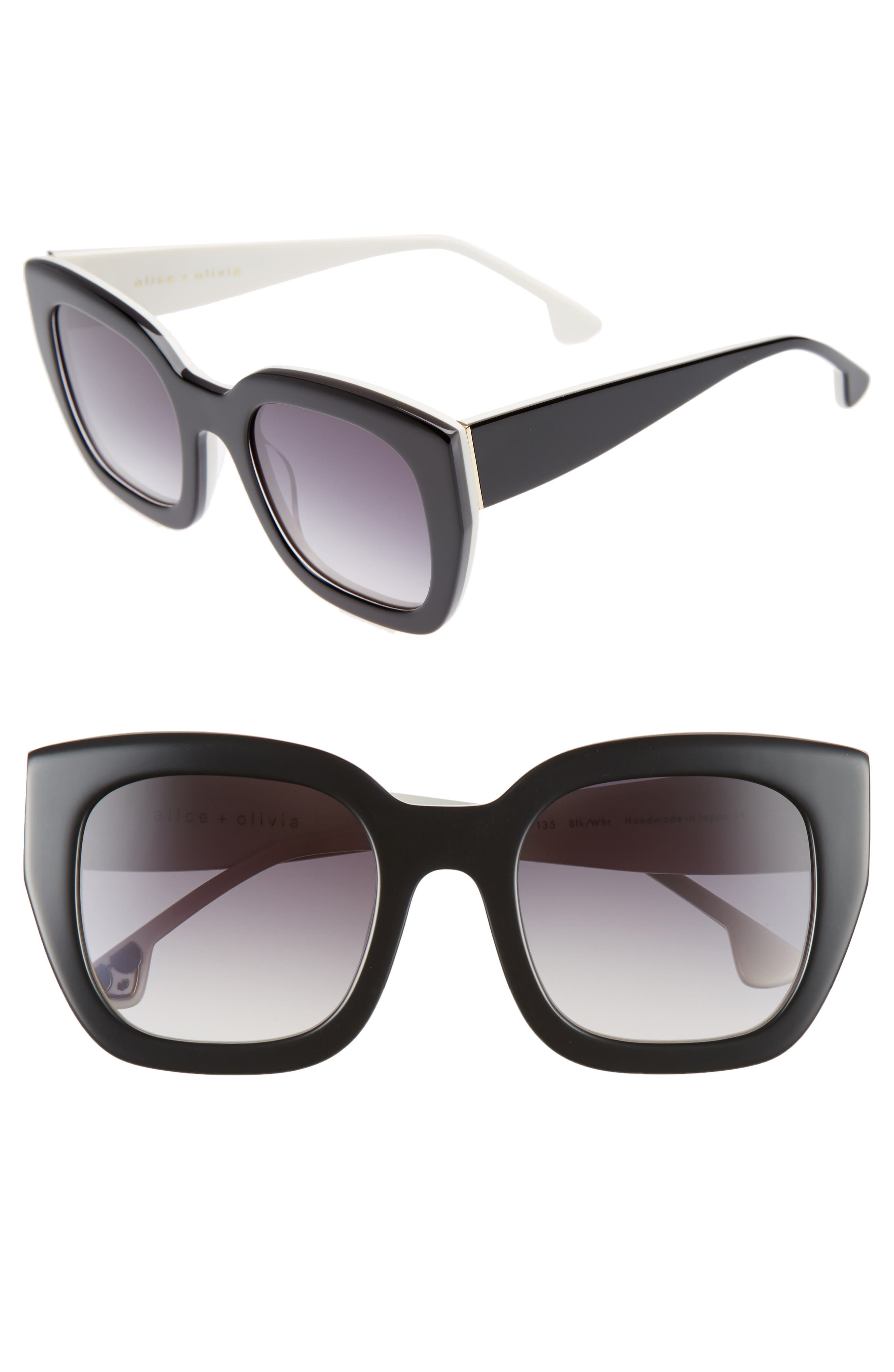 Aberdeen 50mm Square Sunglasses,                             Main thumbnail 1, color,                             001