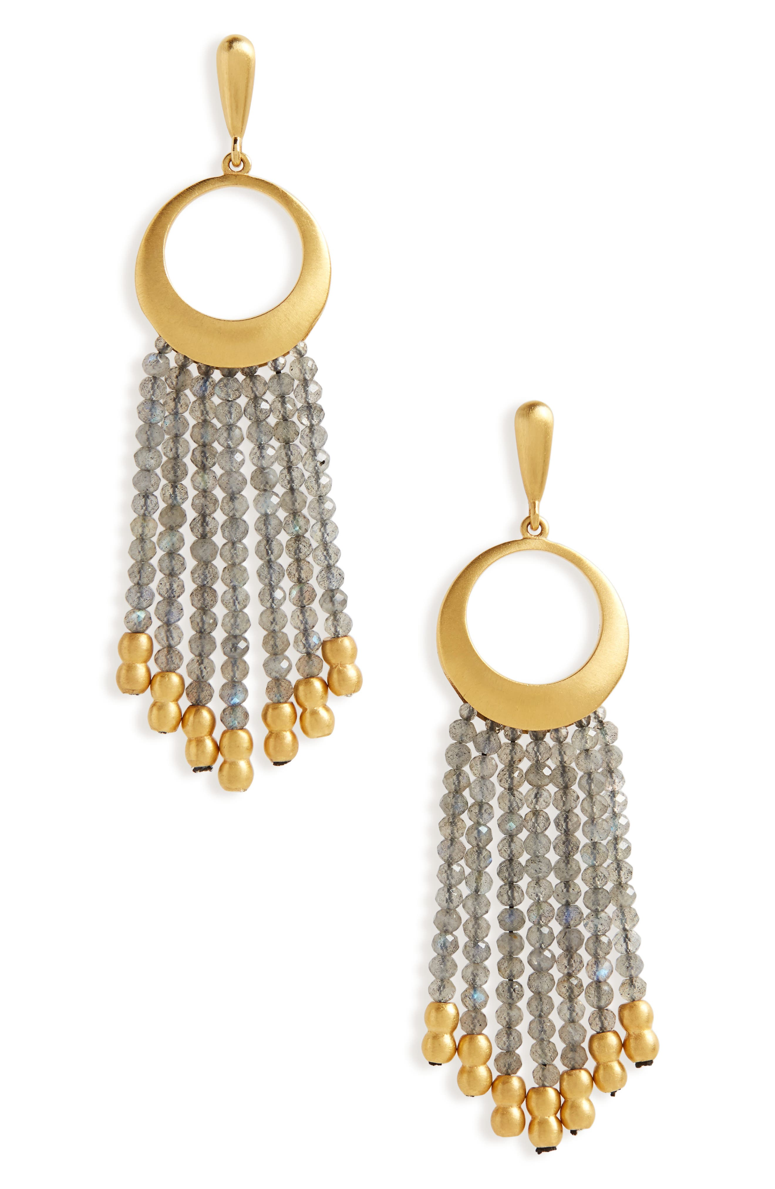 Samba Fringe Drop Earrings,                         Main,                         color, 440