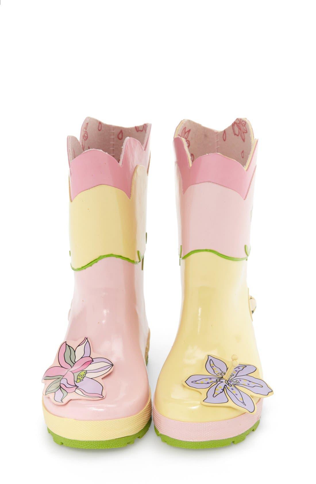 'Lotus' Waterproof Rain Boot,                             Alternate thumbnail 6, color,                             650