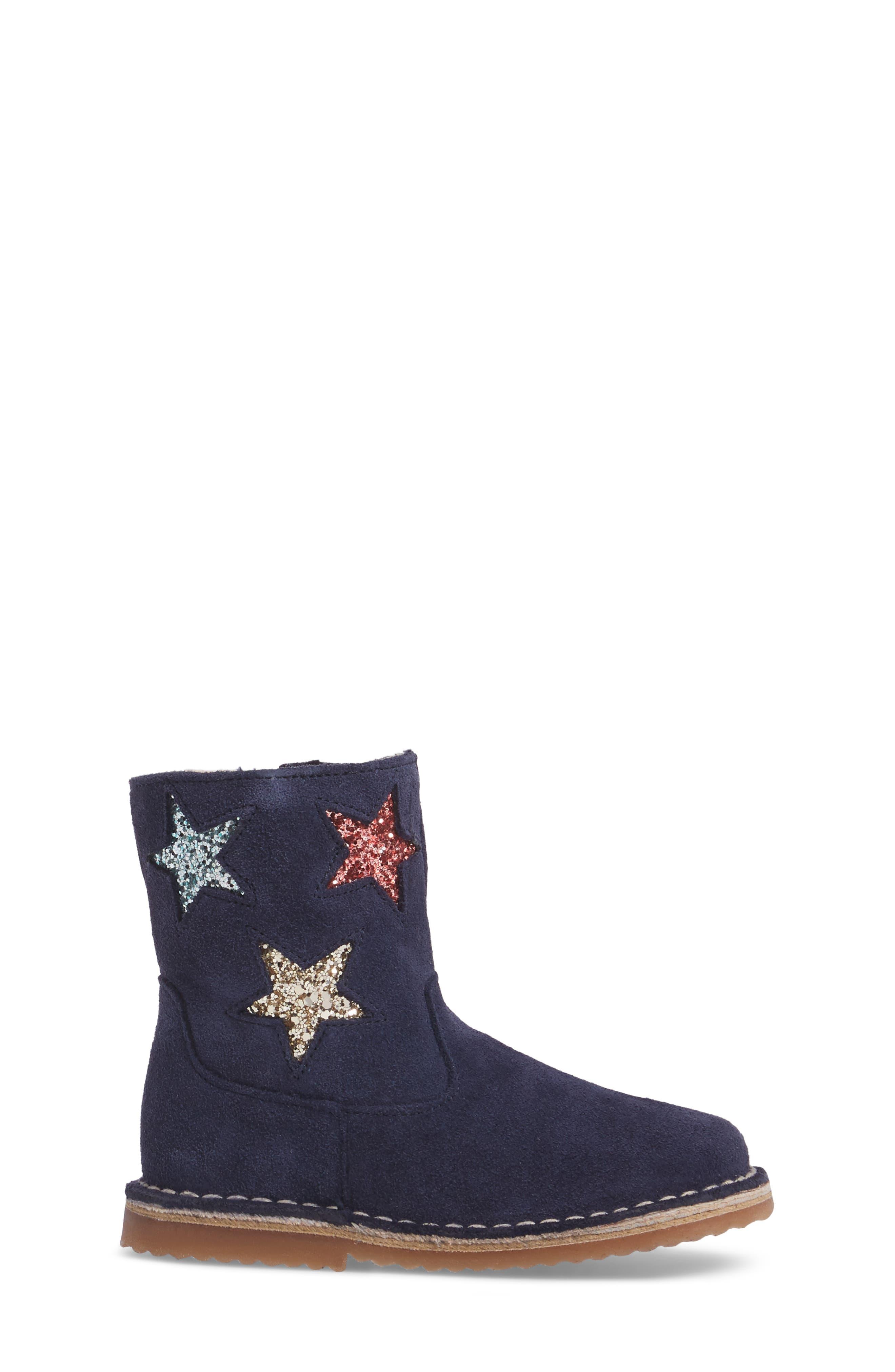 Faux Fur Glitter Star Boot,                             Alternate thumbnail 8, color,