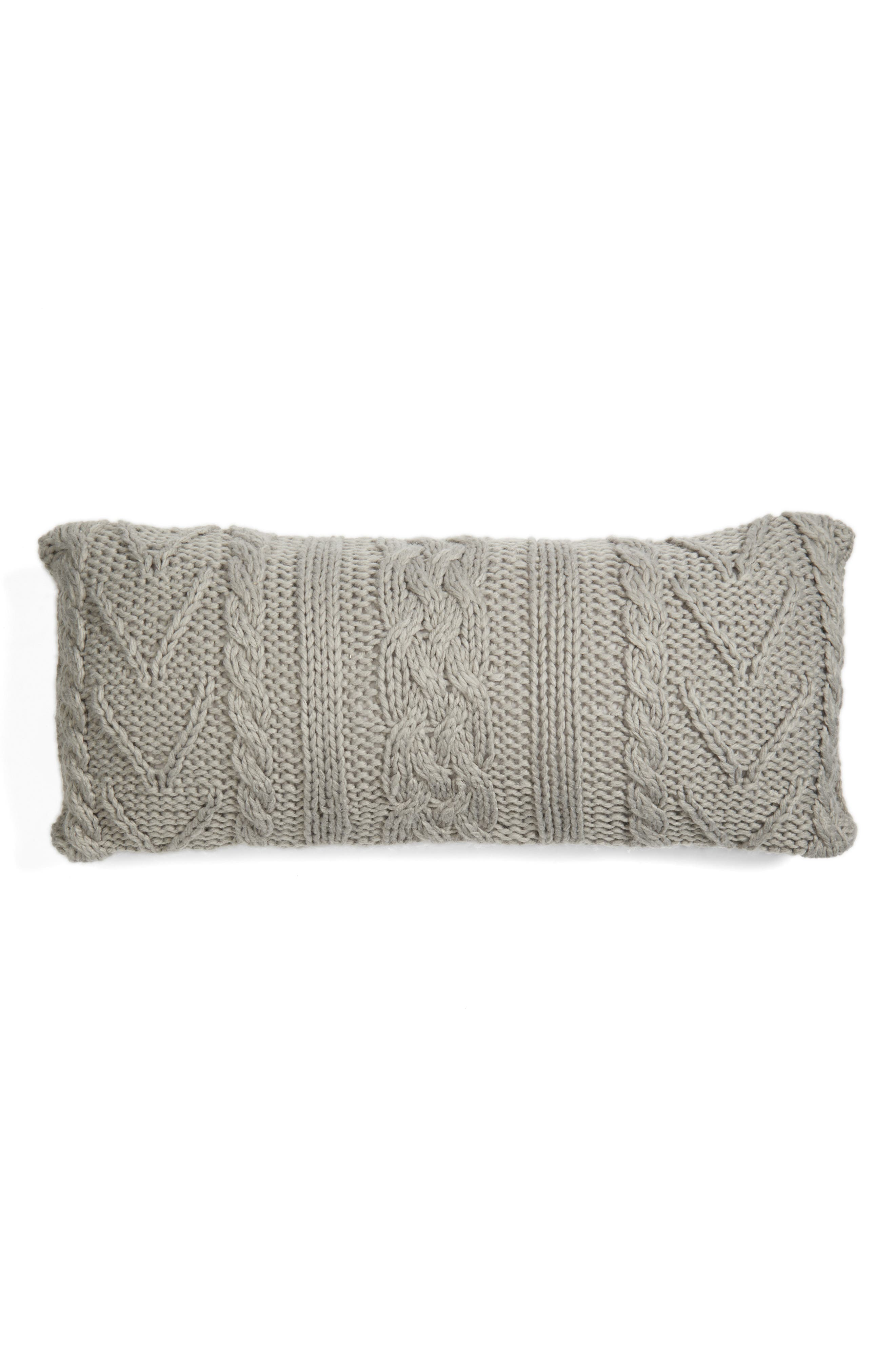 Cable Knit Accent Pillow,                             Main thumbnail 1, color,                             020