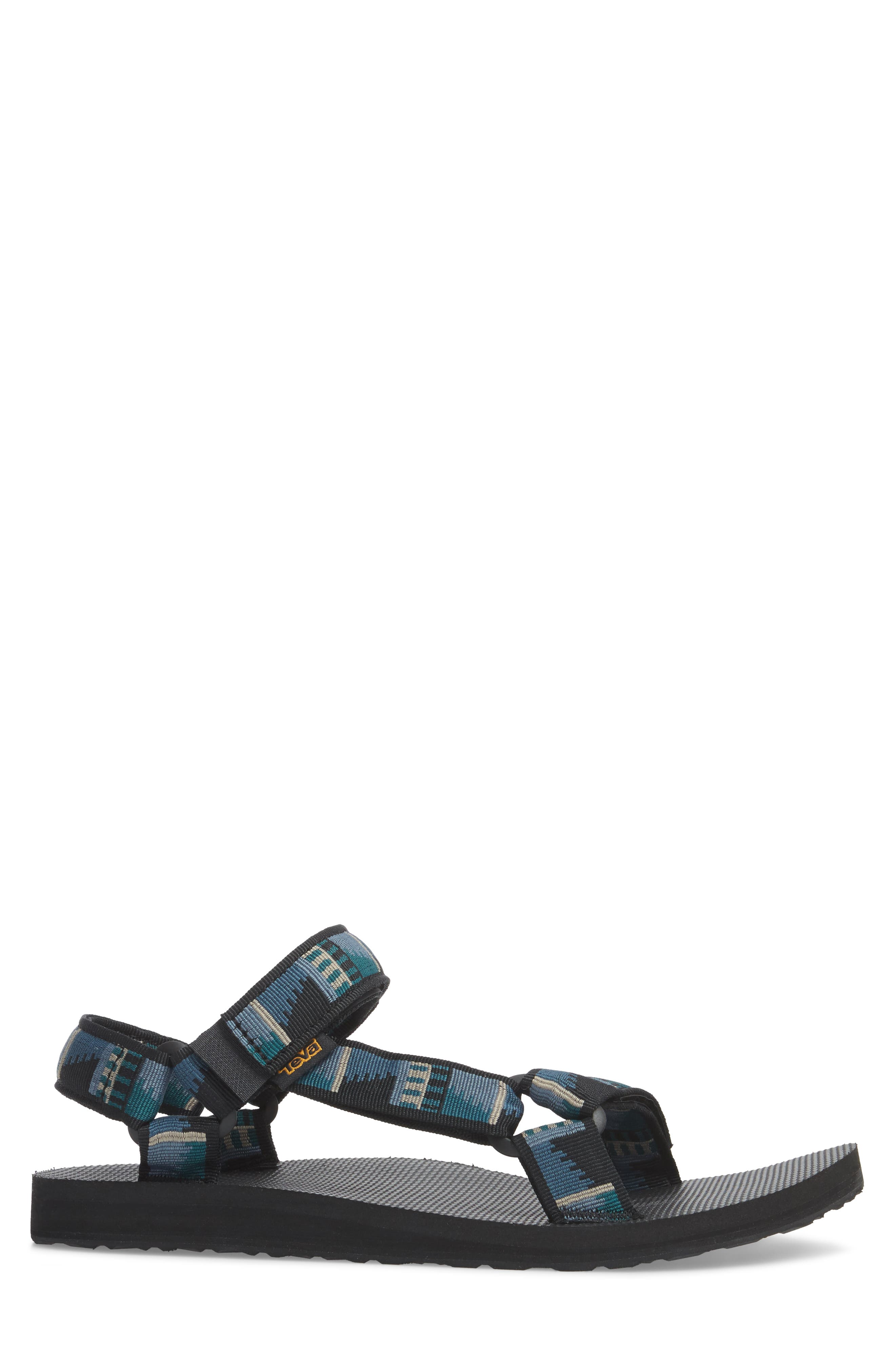 Original Universal Sandal,                             Alternate thumbnail 3, color,                             BLACK NYLON