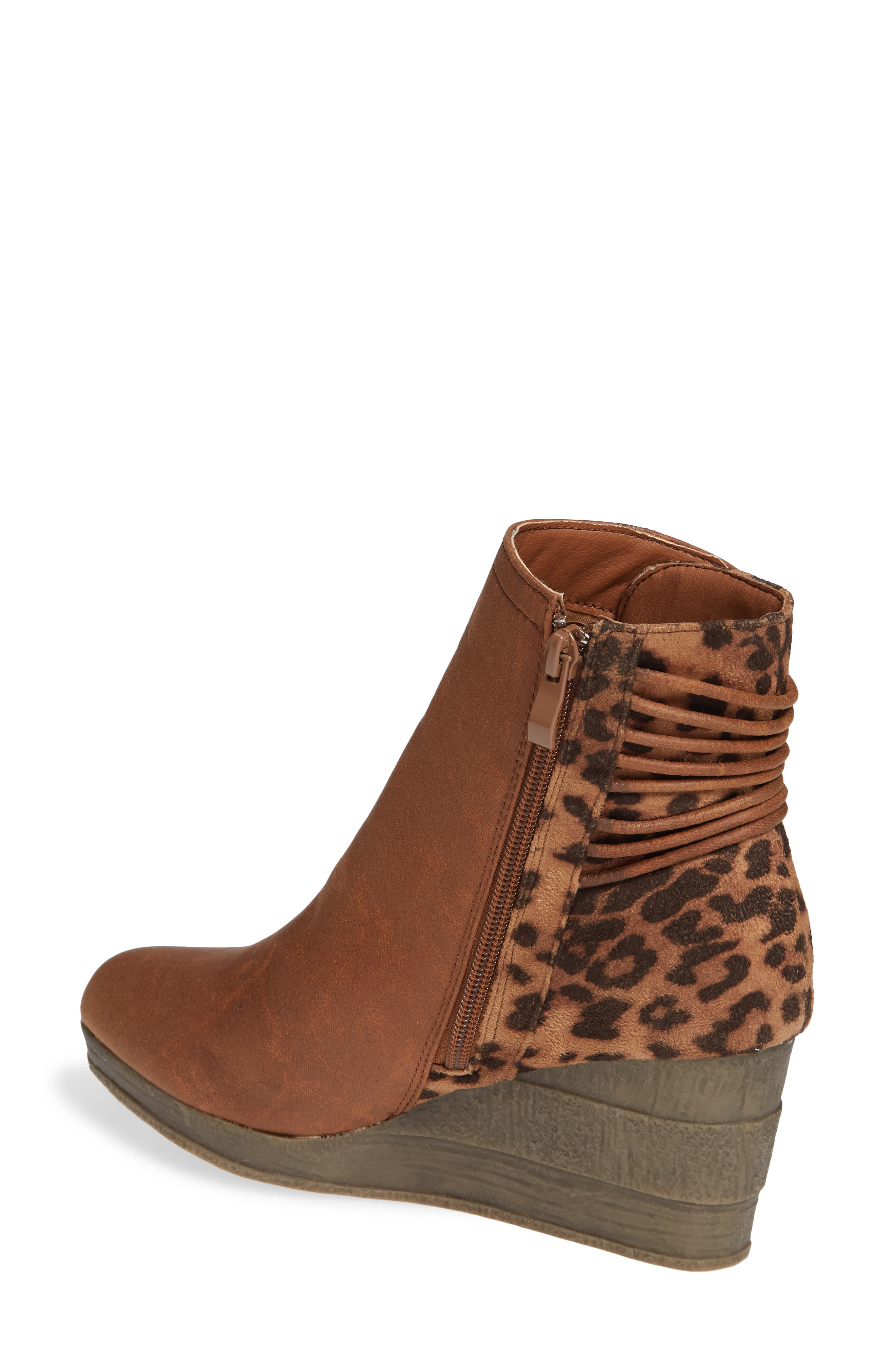 SBICCA,                             Colleen Wedge Boot,                             Alternate thumbnail 2, color,                             TAN LEOPARD FABRIC