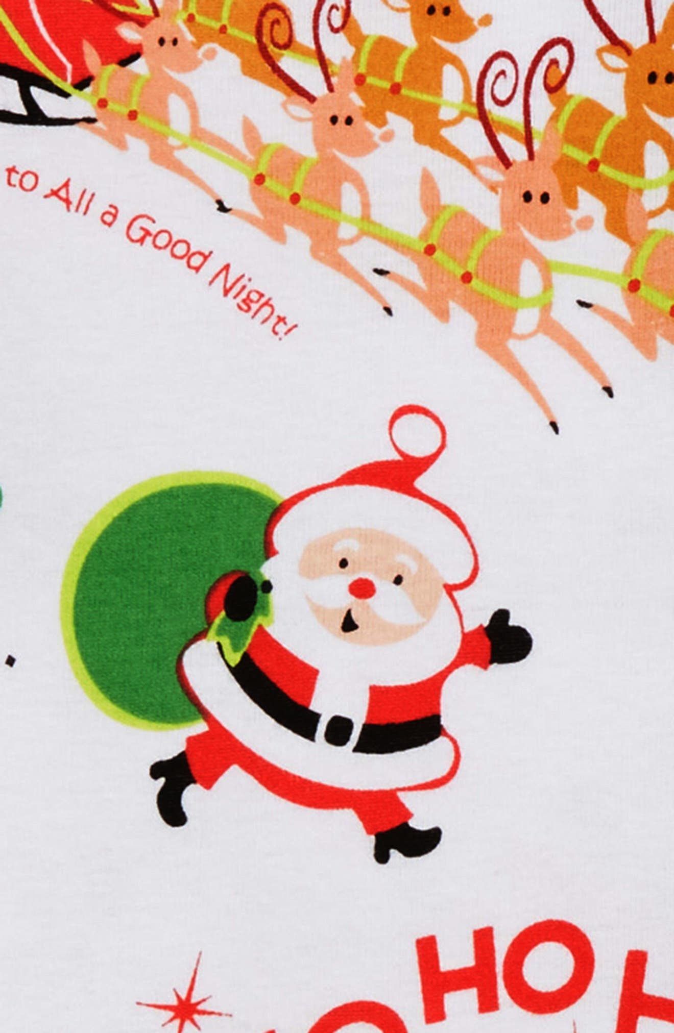 Twas the Night Before Christmas Fitted Two-Piece Pajamas & Book Set,                             Alternate thumbnail 2, color,                             WHITE