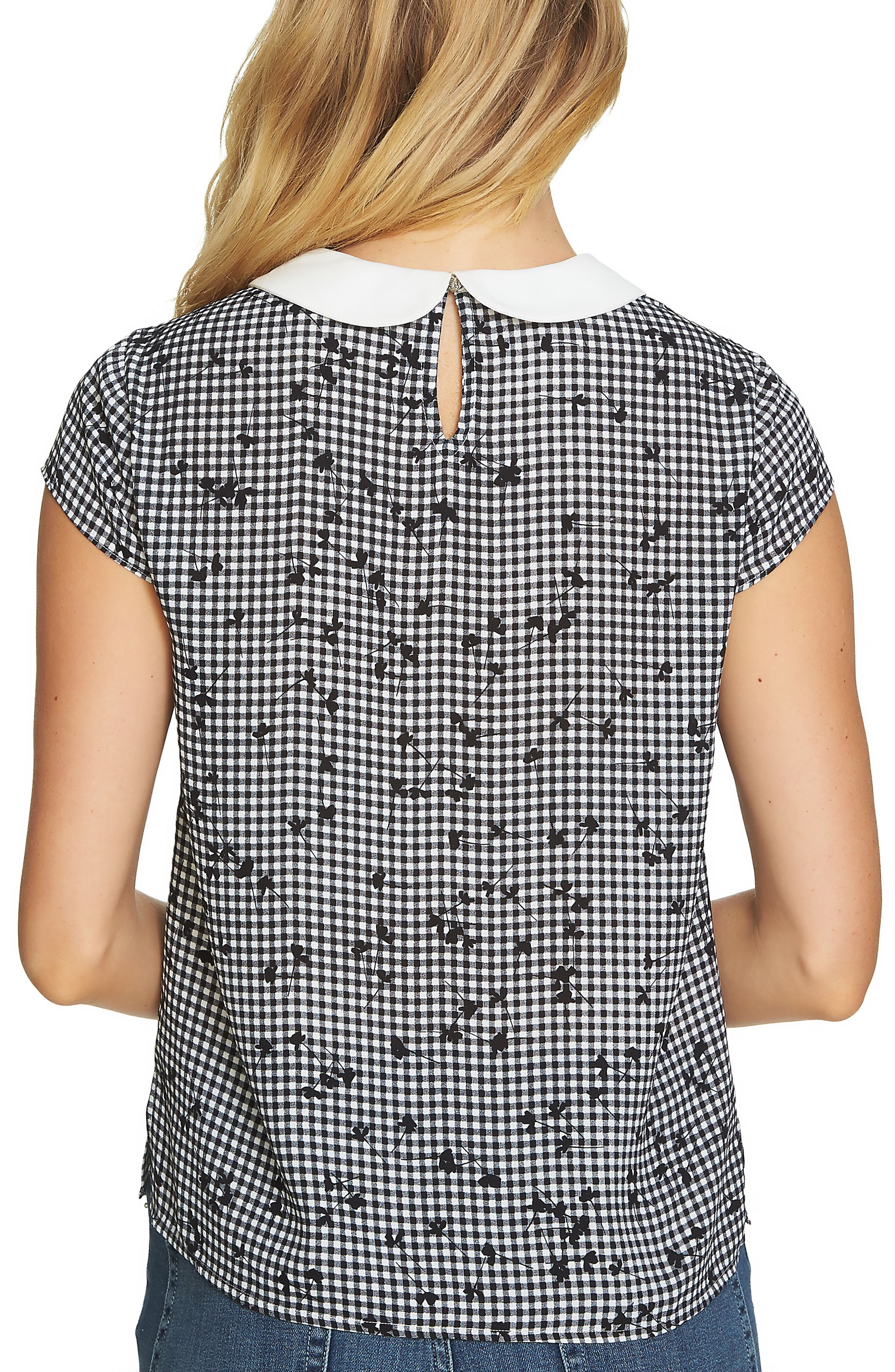 Simple Check Ditsy Blouse,                             Alternate thumbnail 2, color,                             006