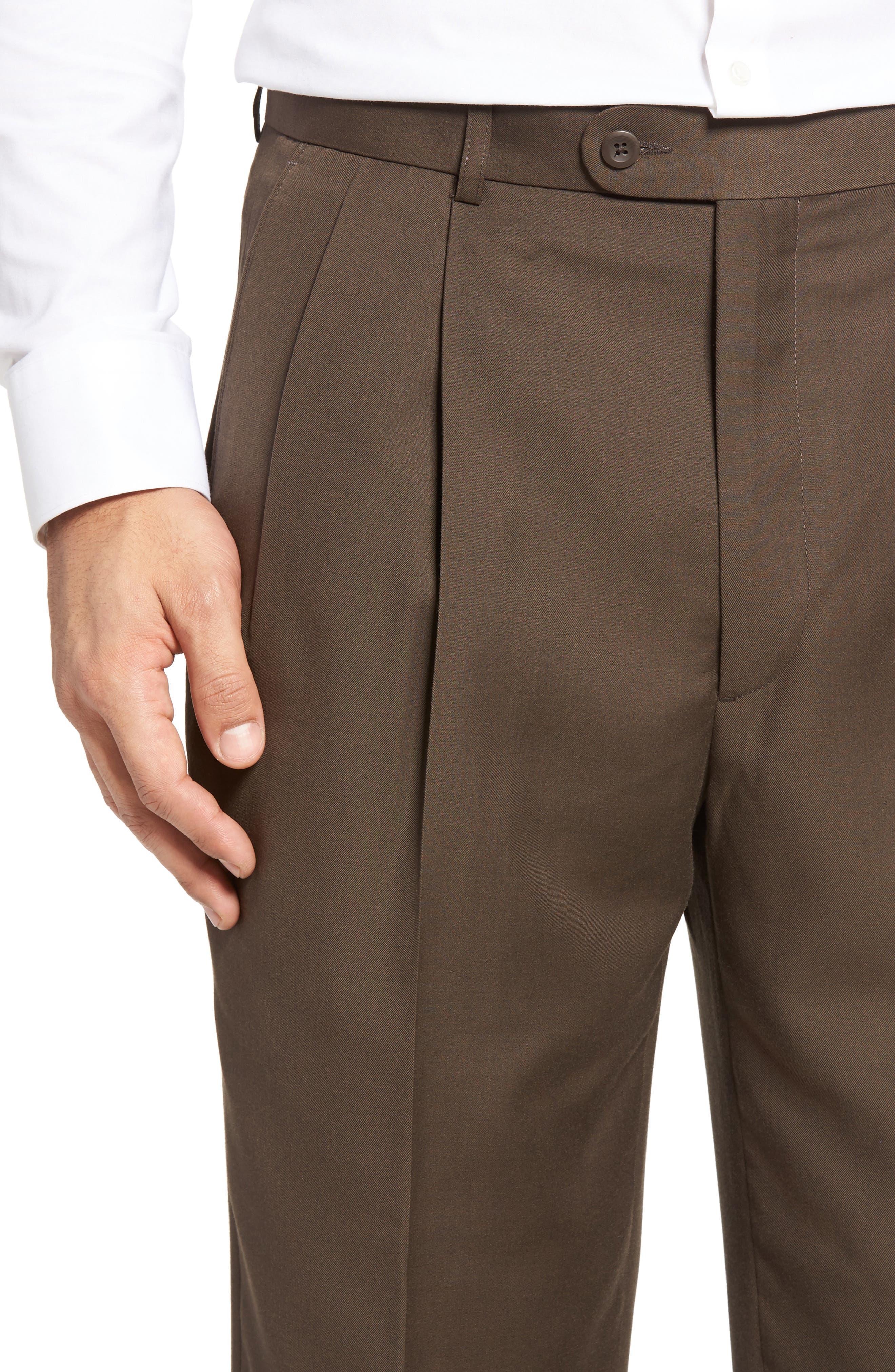 Pleated Microfiber Dress Pants,                             Alternate thumbnail 25, color,