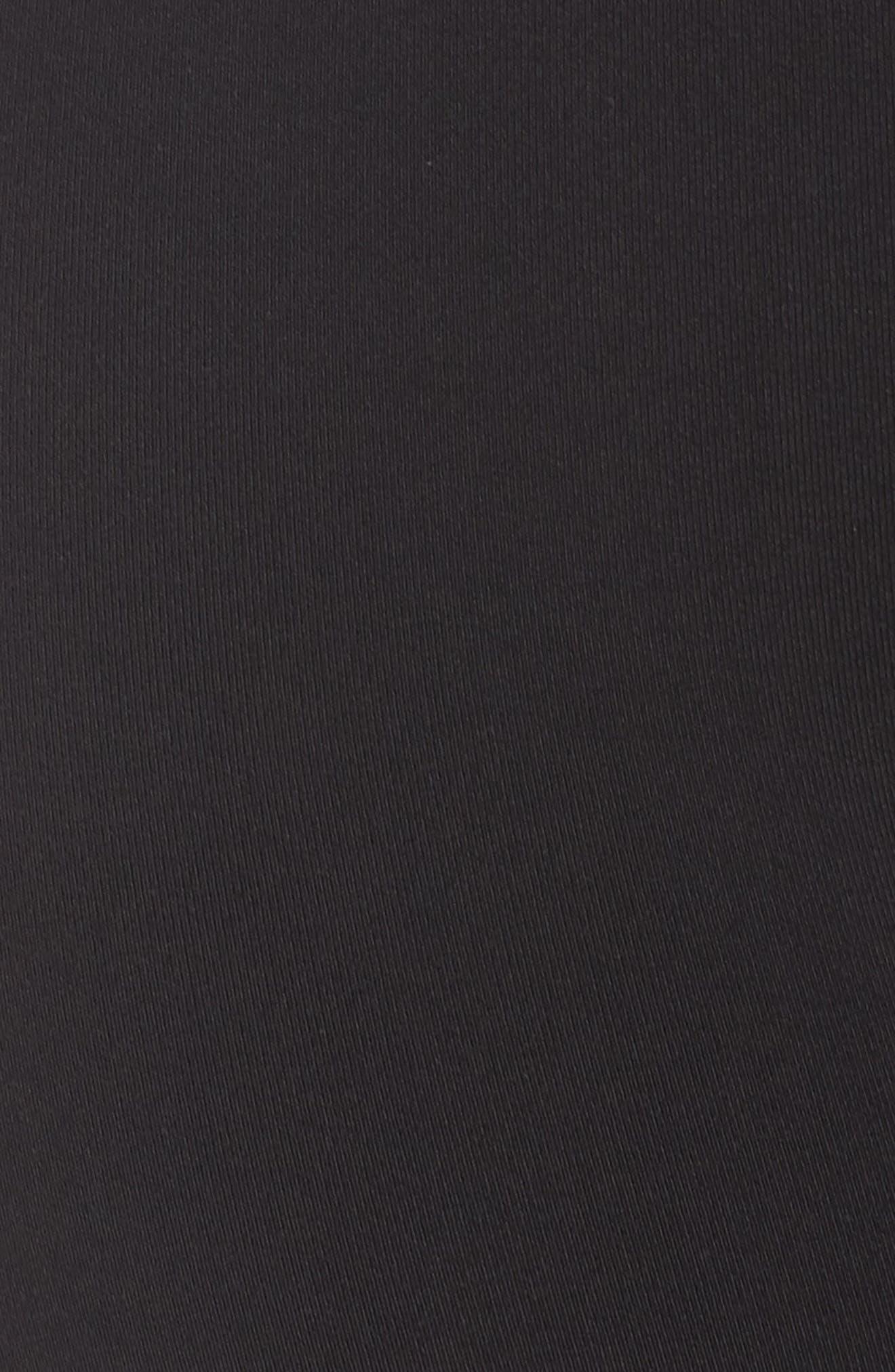 Goddess Ribbed Leggings,                             Alternate thumbnail 6, color,                             BLACK/ NECTAR