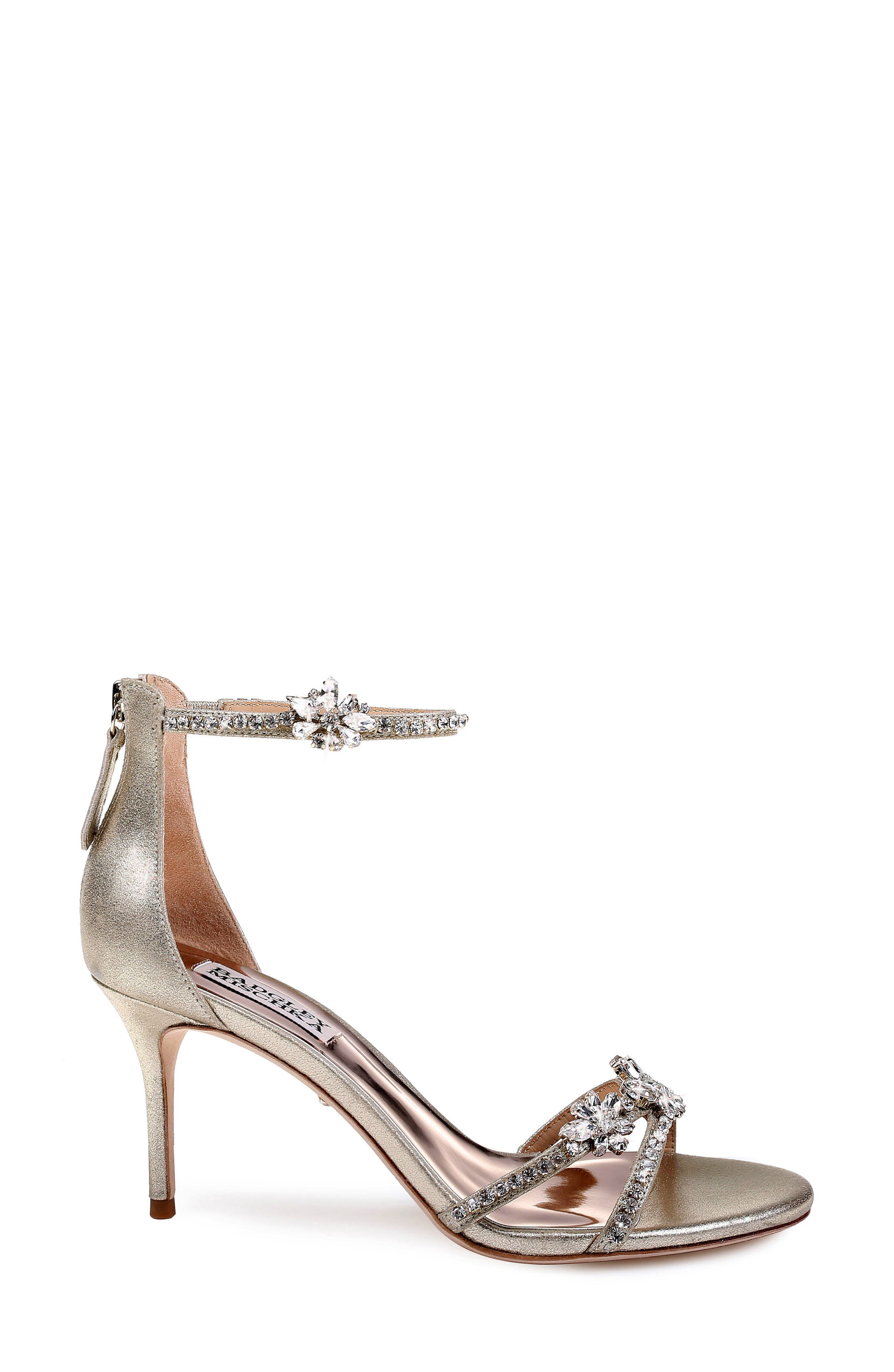 BADGLEY MISCHKA COLLECTION,                             Badgley Mischka Hobbs Ankle Strap Sandal,                             Alternate thumbnail 3, color,                             040