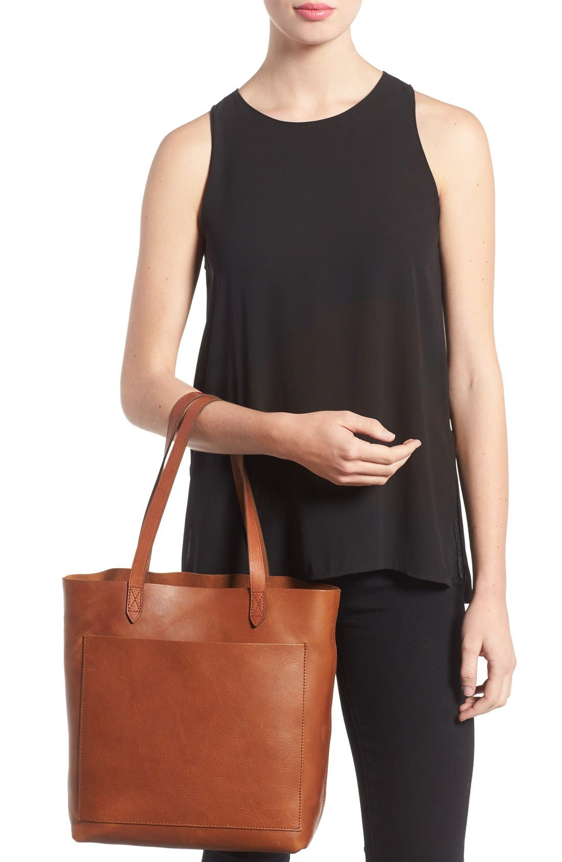 Medium Leather Transport Tote,                             Alternate thumbnail 109, color,