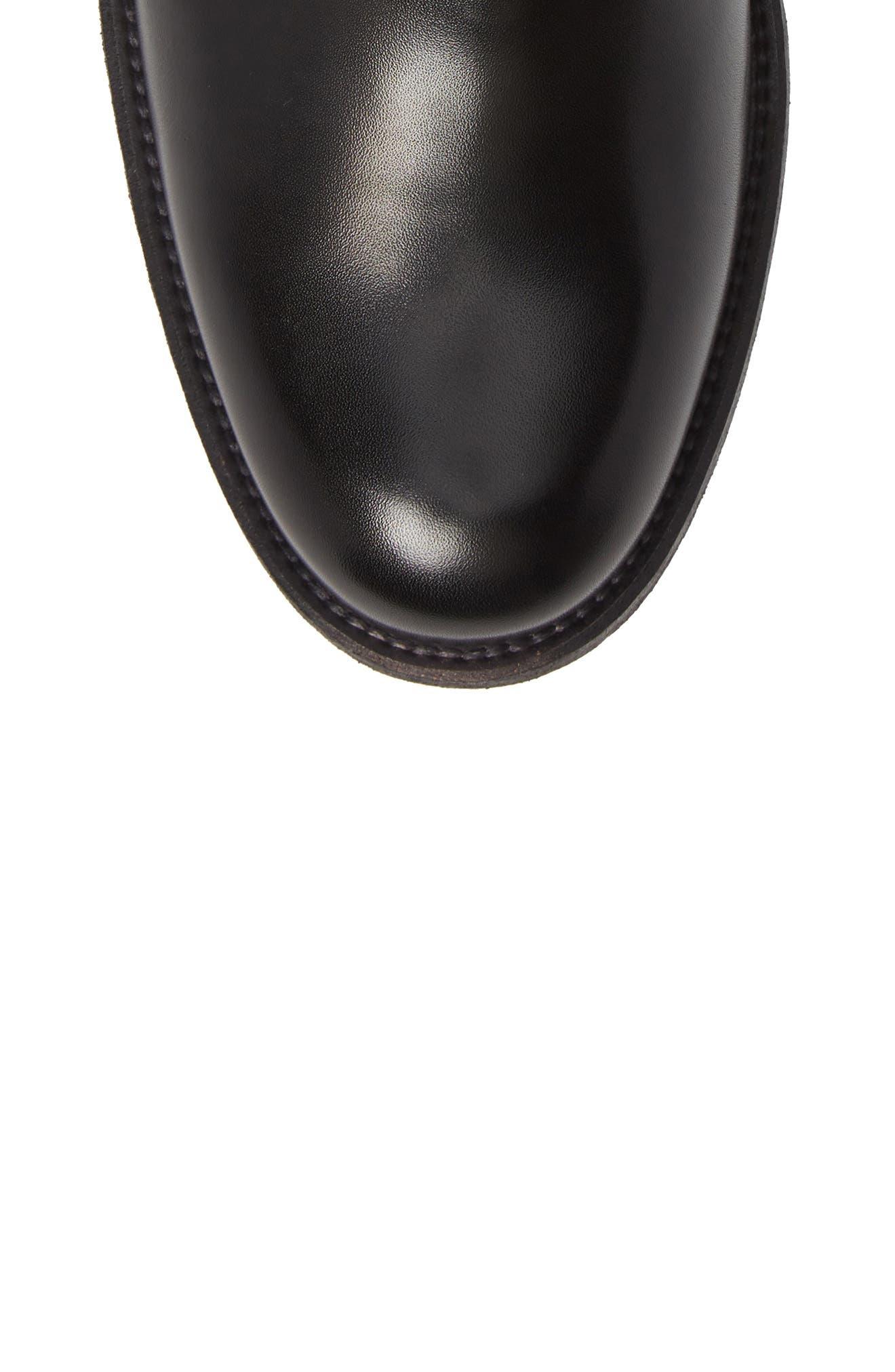 Saburo Water Resistant Chelsea Boot,                             Alternate thumbnail 5, color,                             BLACK LEATHER