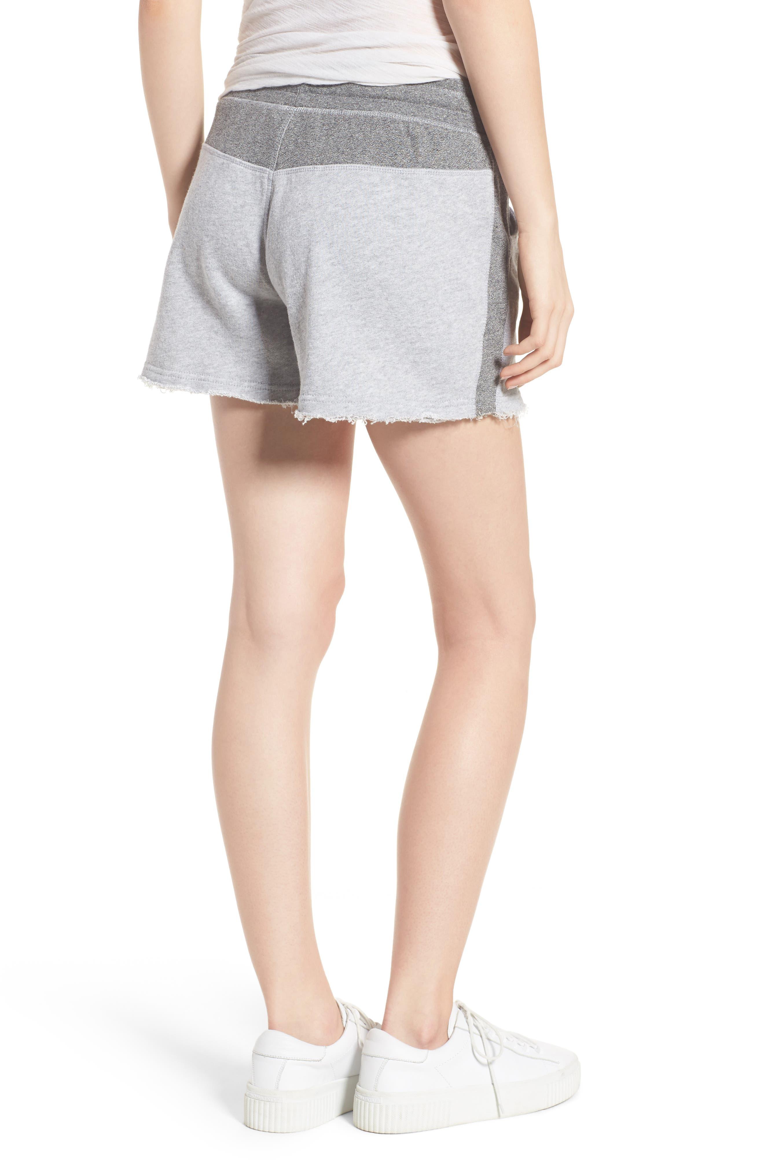 Raw Hem Sweat Shorts,                             Alternate thumbnail 2, color,
