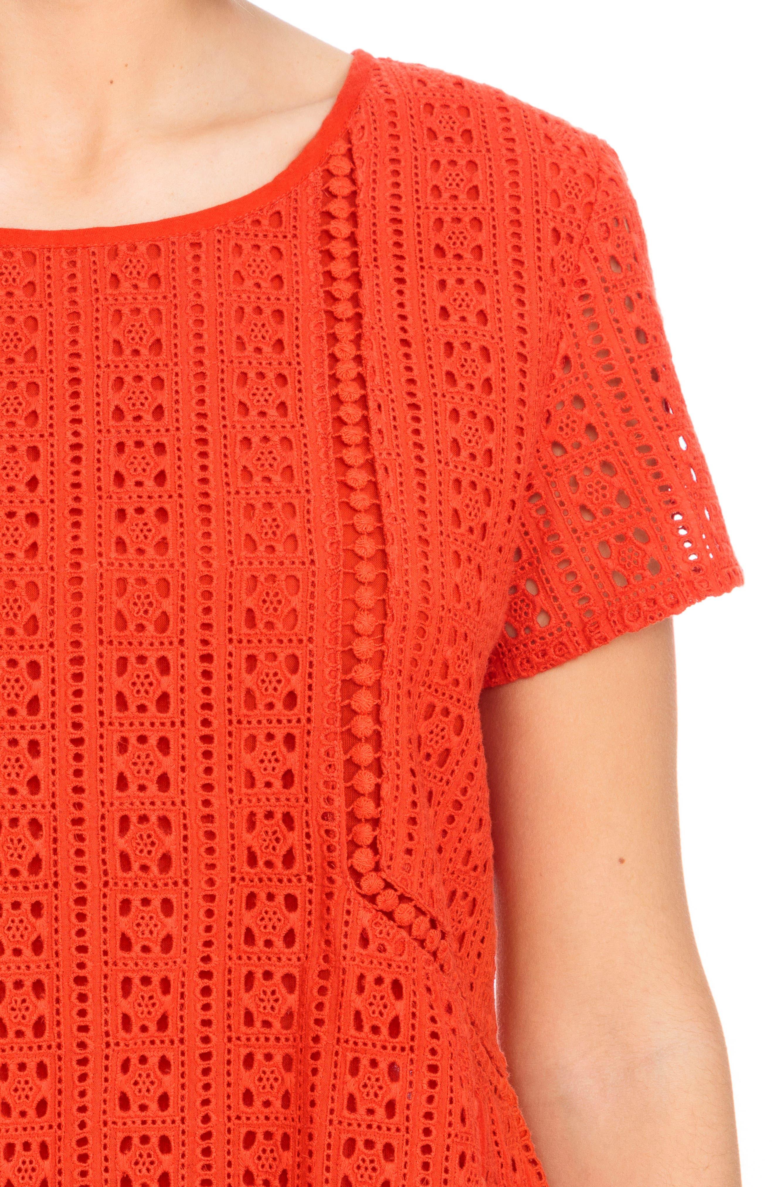 Clo Crochet Blouse,                             Alternate thumbnail 9, color,