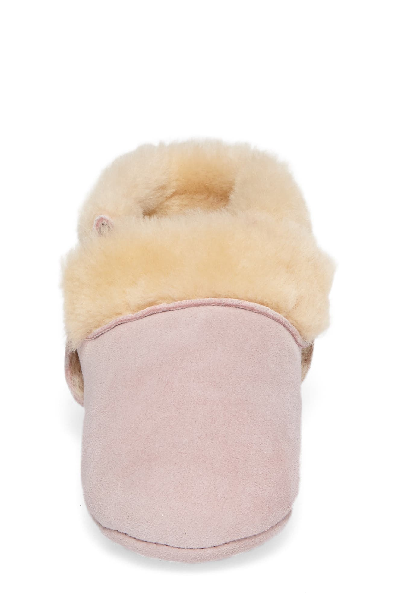 Solvi Genuine Shearling Low Cuffed Bootie,                             Alternate thumbnail 4, color,                             BABY PINK