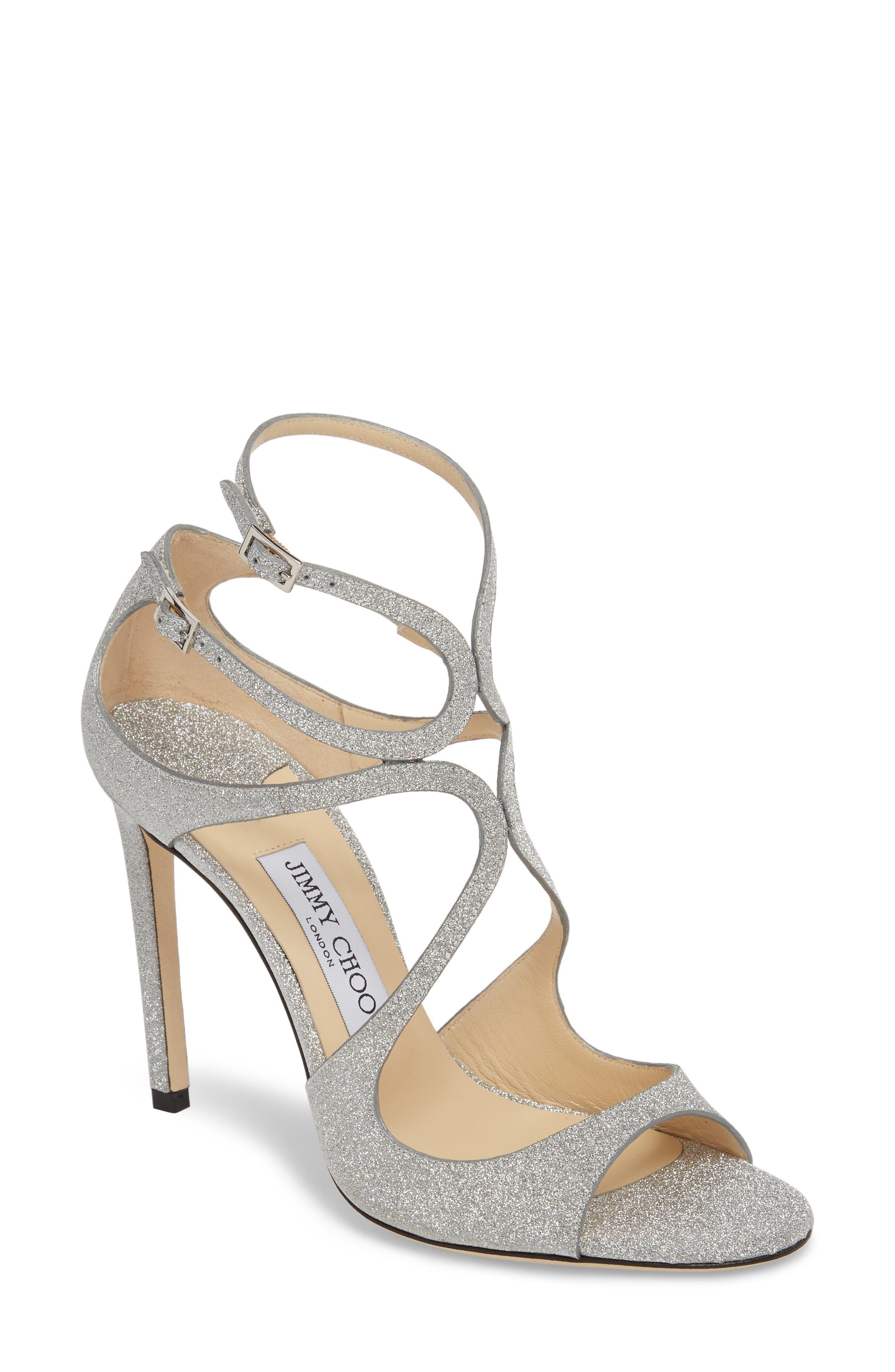 Lang Sandal,                         Main,                         color, SILVER
