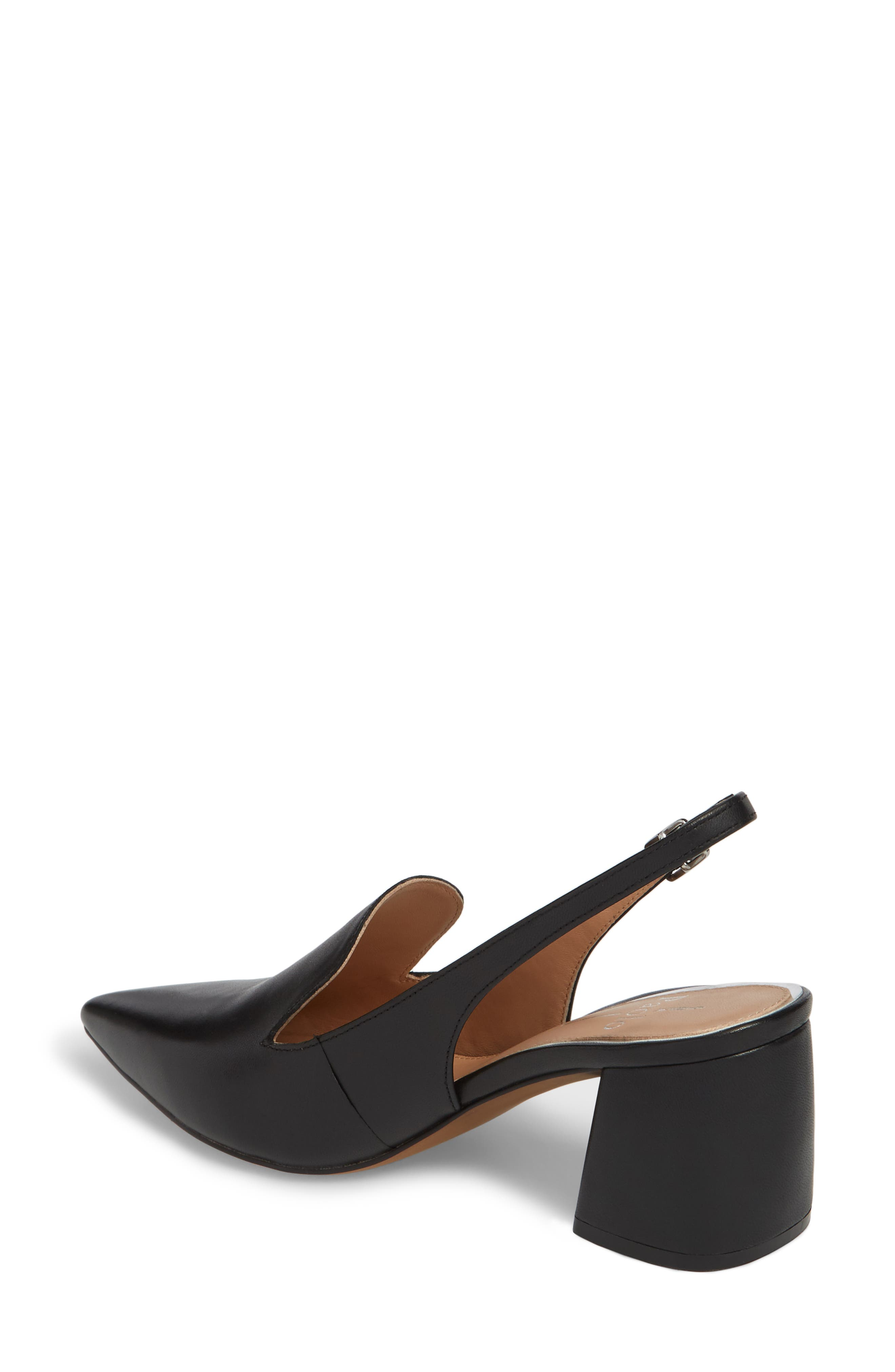 Carly Slingback Pump,                             Alternate thumbnail 2, color,                             BLACK LEATHER