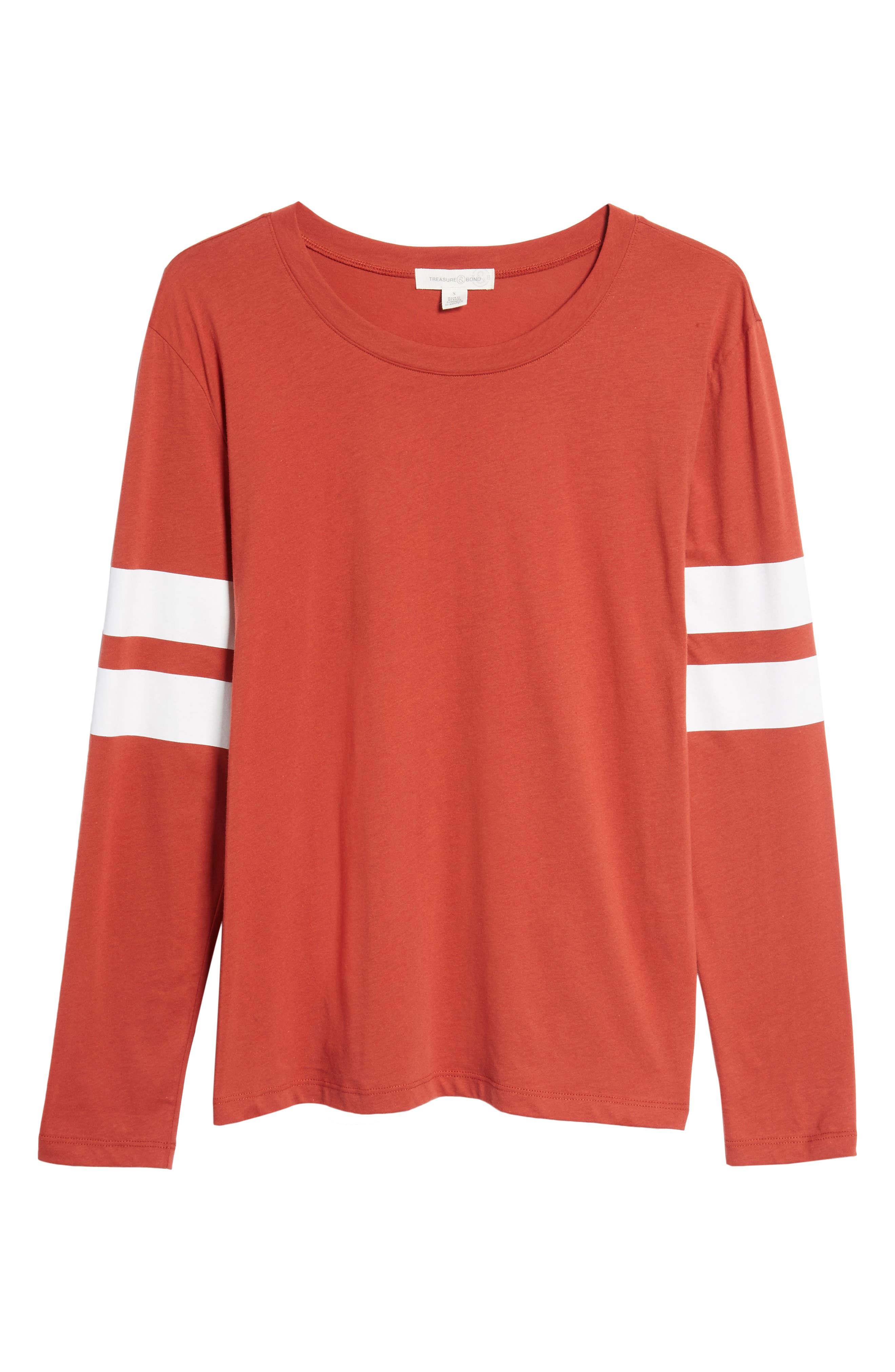 Varsity Stripe Cotton Tee,                             Alternate thumbnail 113, color,
