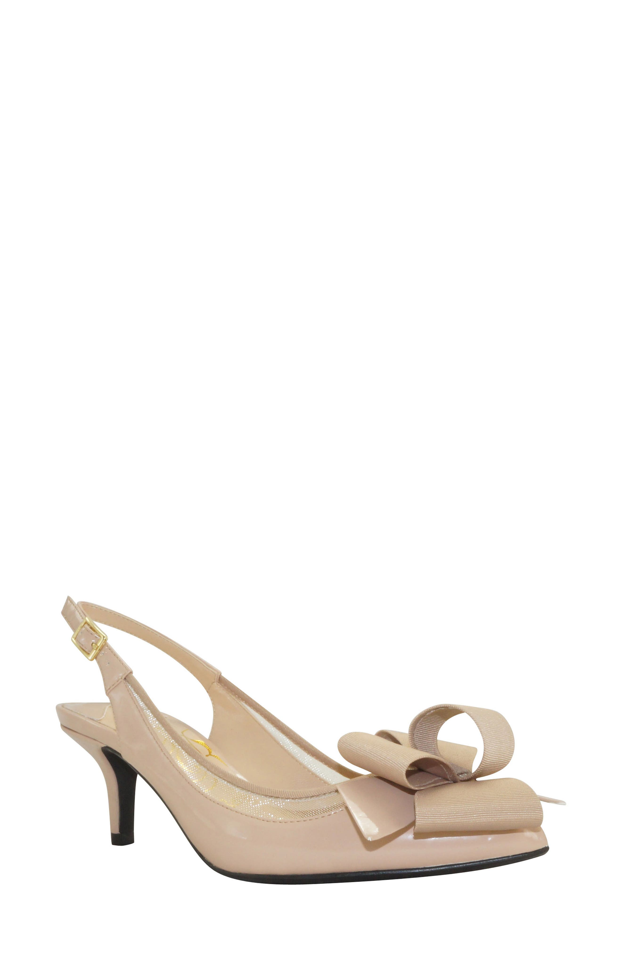 'Garbi' Pointy Toe Bow Pump,                         Main,                         color, 260