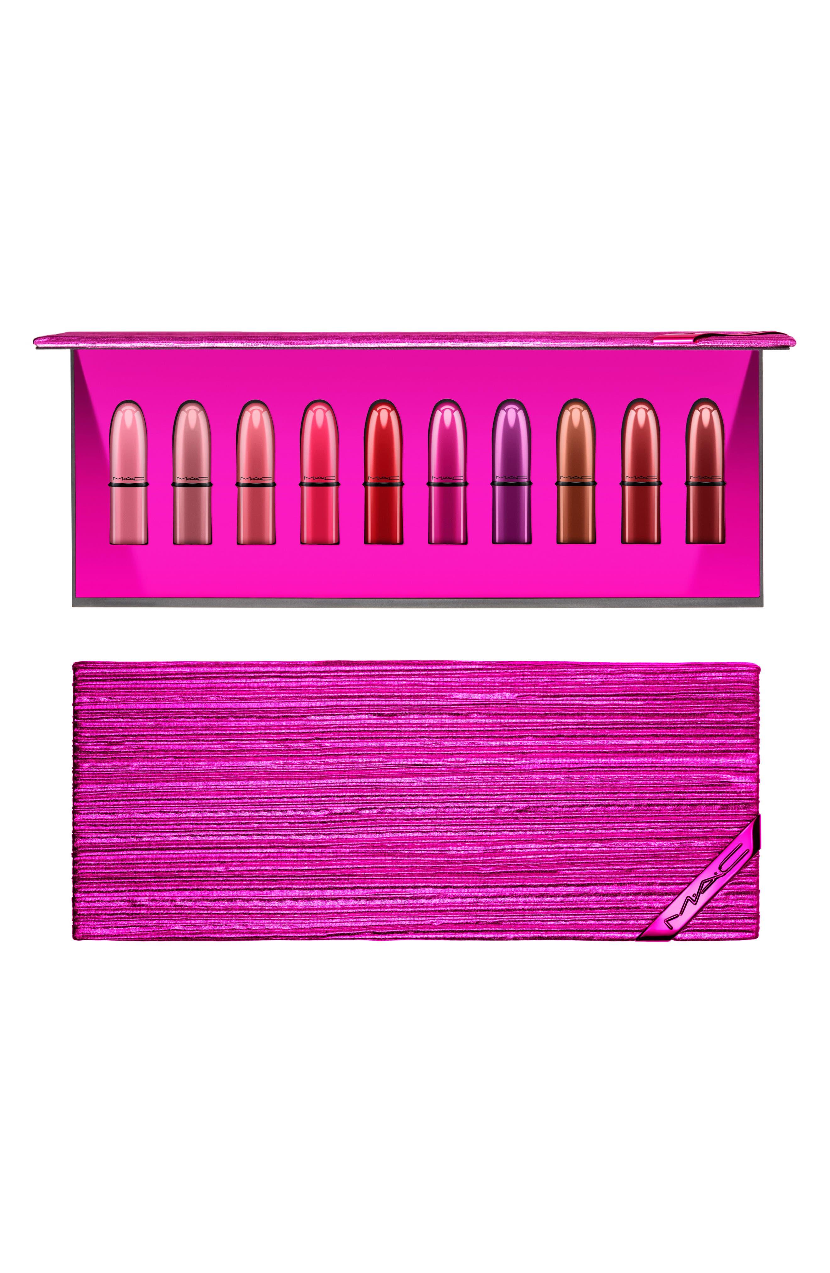 MAC Shiny Pretty Things Lip Kit,                             Main thumbnail 1, color,                             NO COLOR