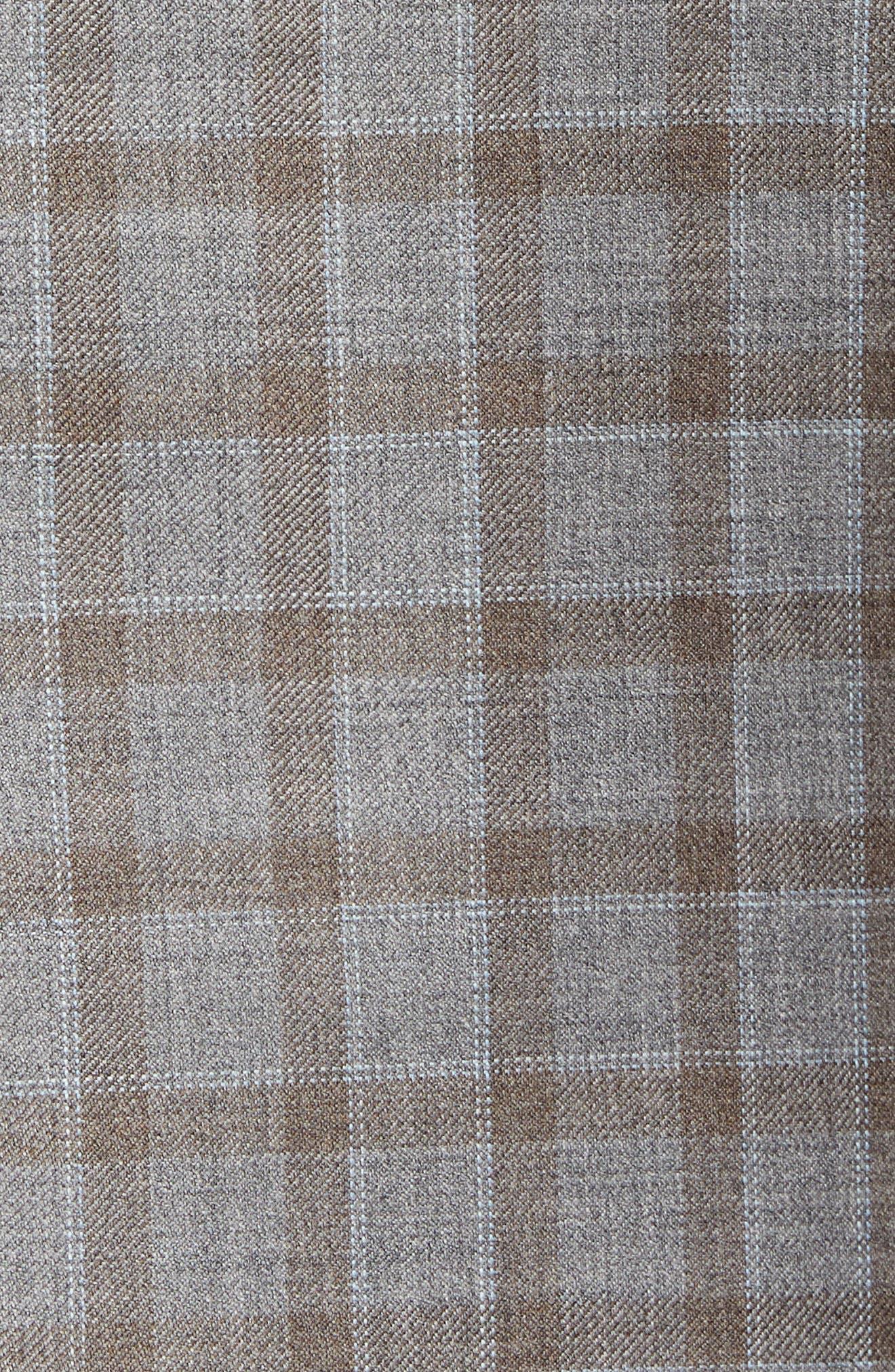Flynn Classic Fit Check Wool Sport Coat,                             Alternate thumbnail 6, color,                             TAN