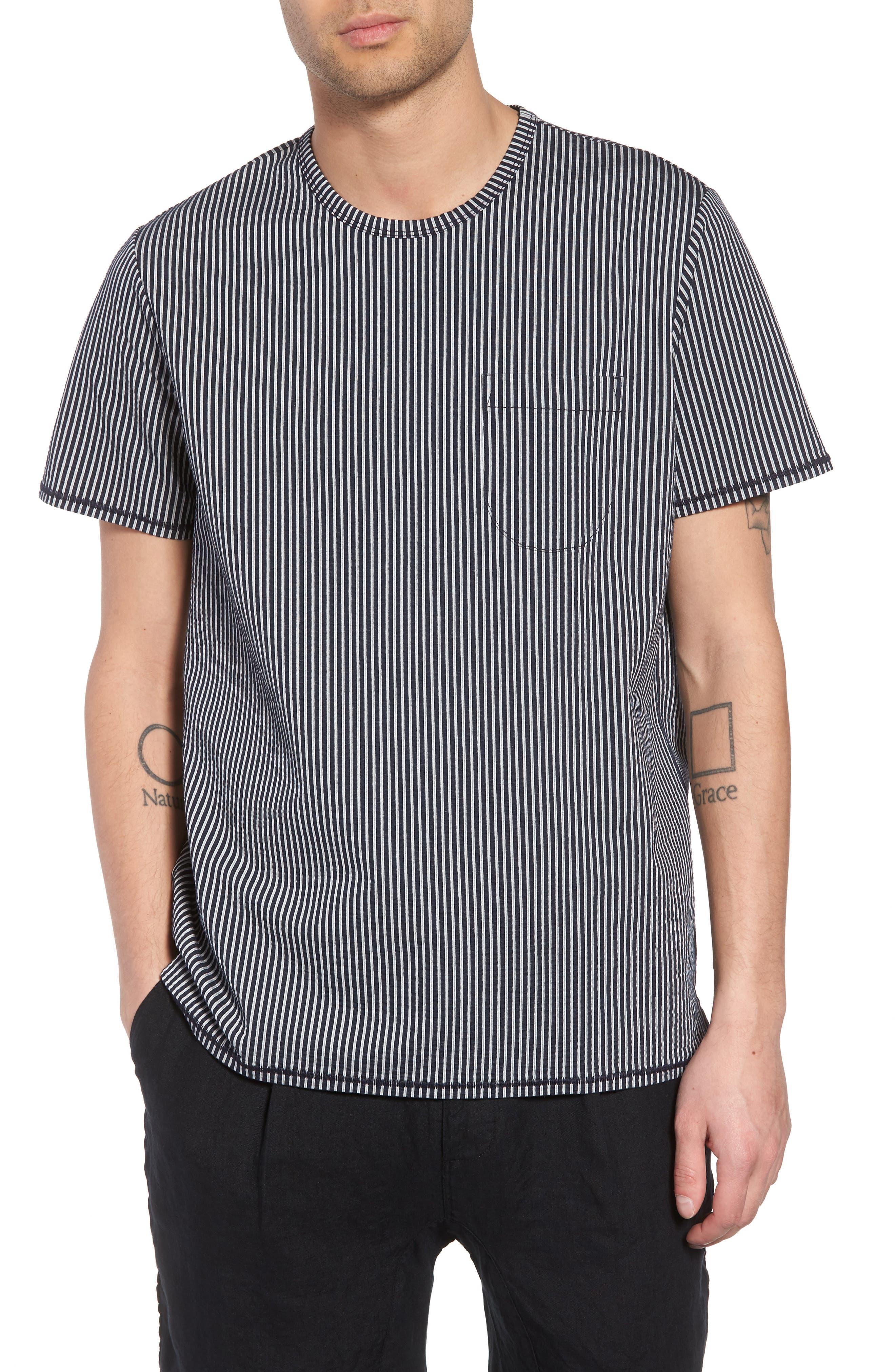 Japanese Seersucker T-Shirt,                             Main thumbnail 2, color,