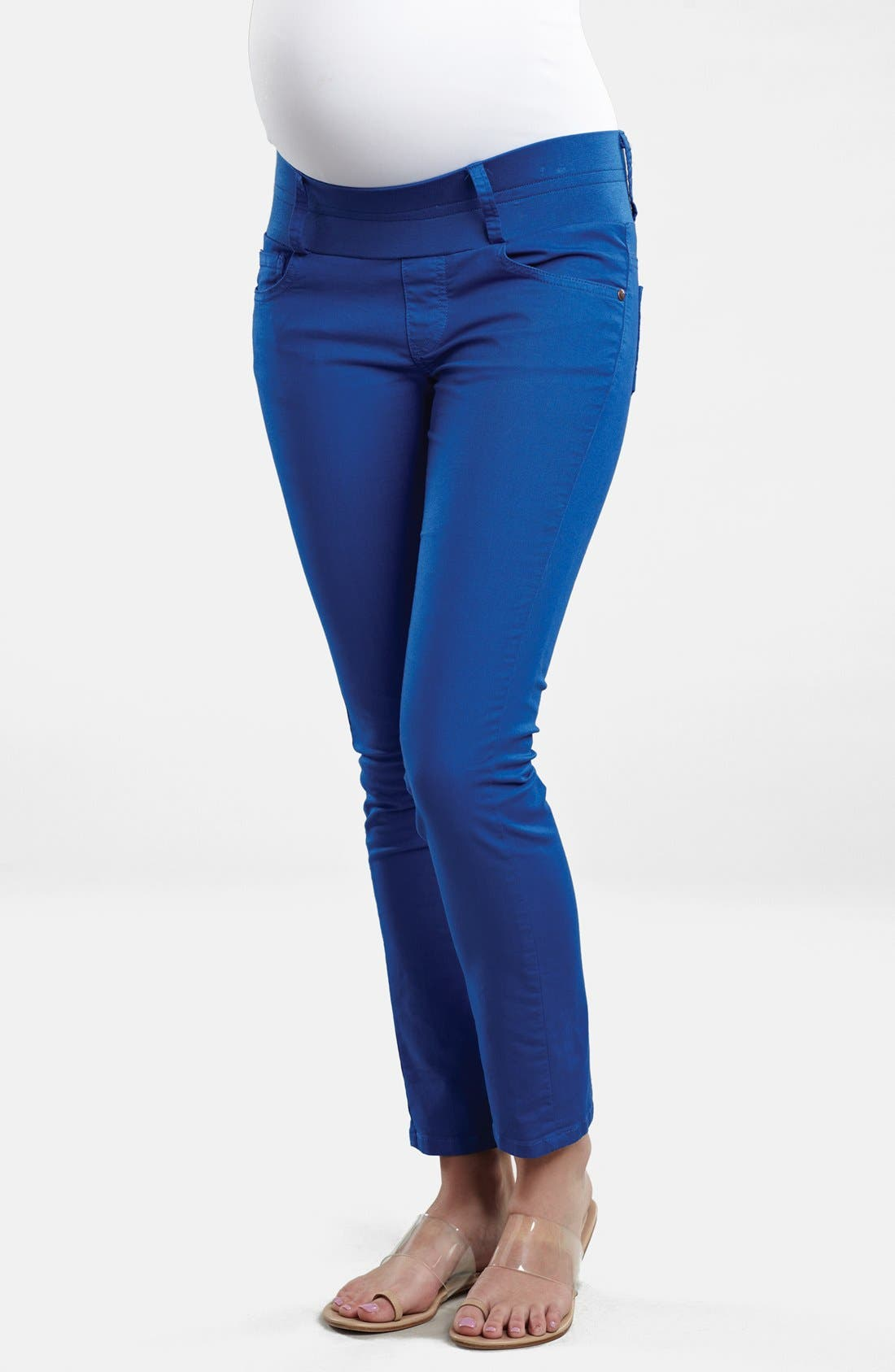 Maternity Skinny Ankle Stretch Jeans,                             Main thumbnail 1, color,                             ROYAL
