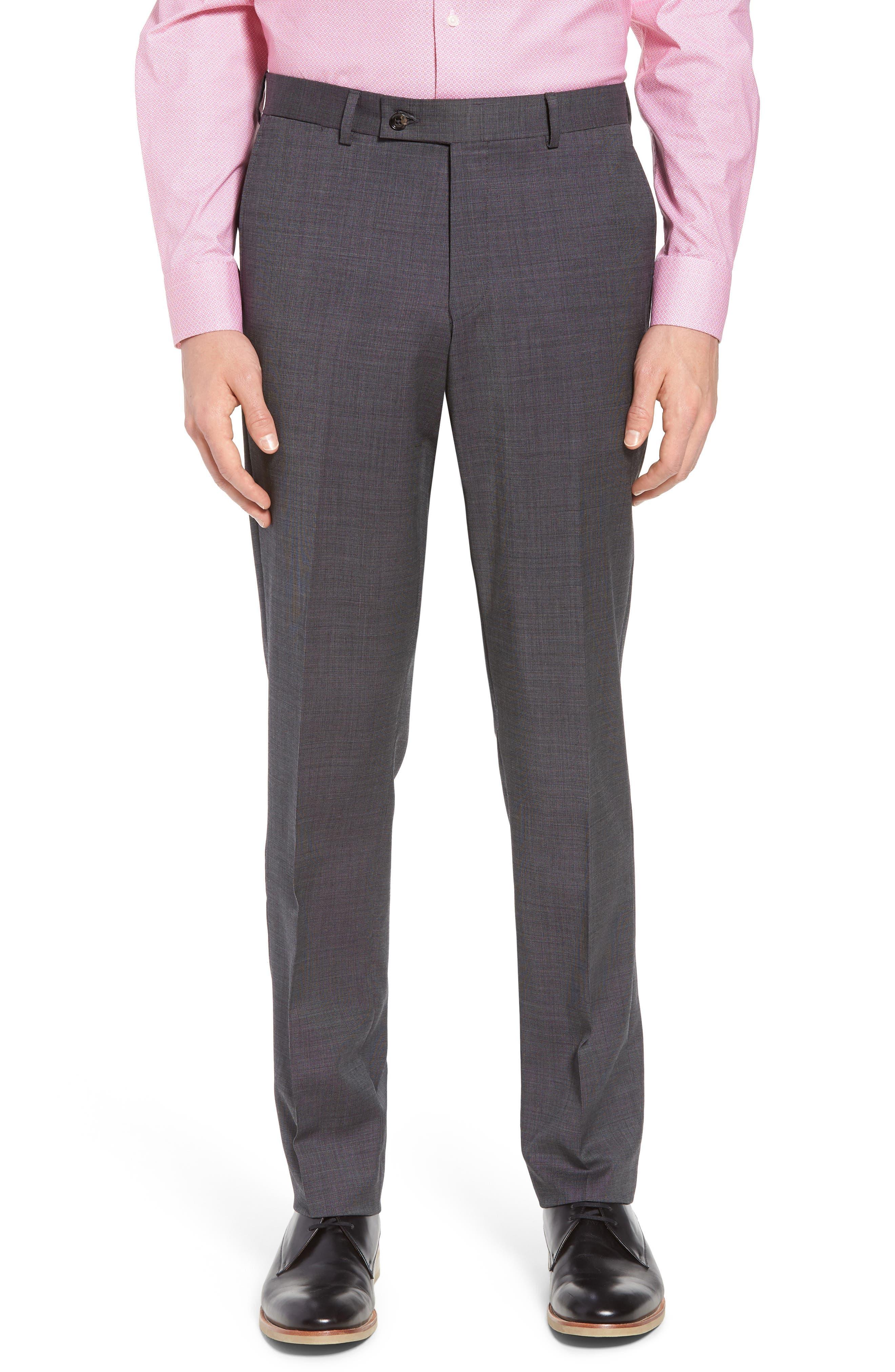 Jay Trim Fit Solid Wool Suit,                             Alternate thumbnail 6, color,                             020