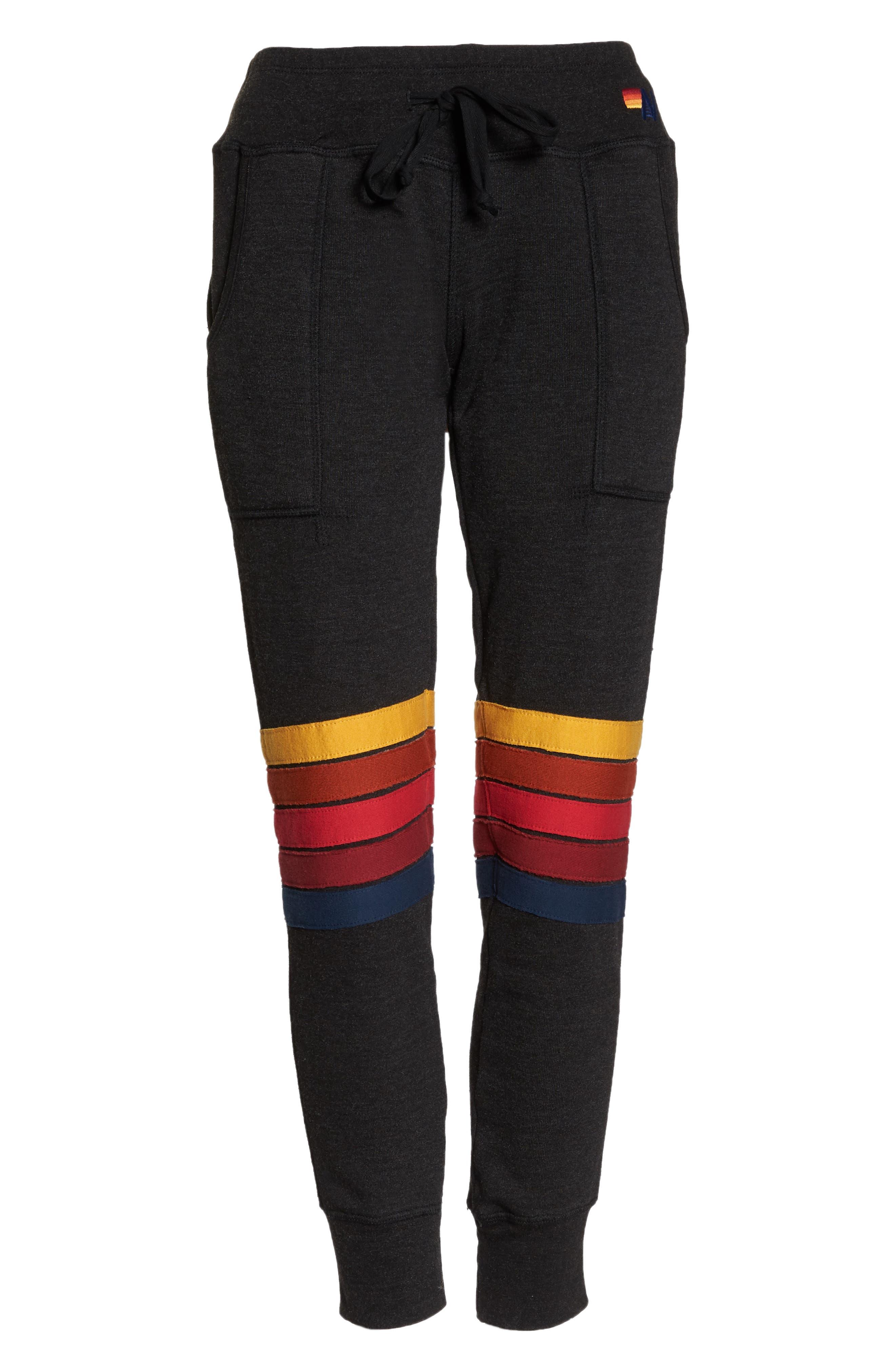 Moto Stripe Sweatpants,                             Alternate thumbnail 7, color,                             002
