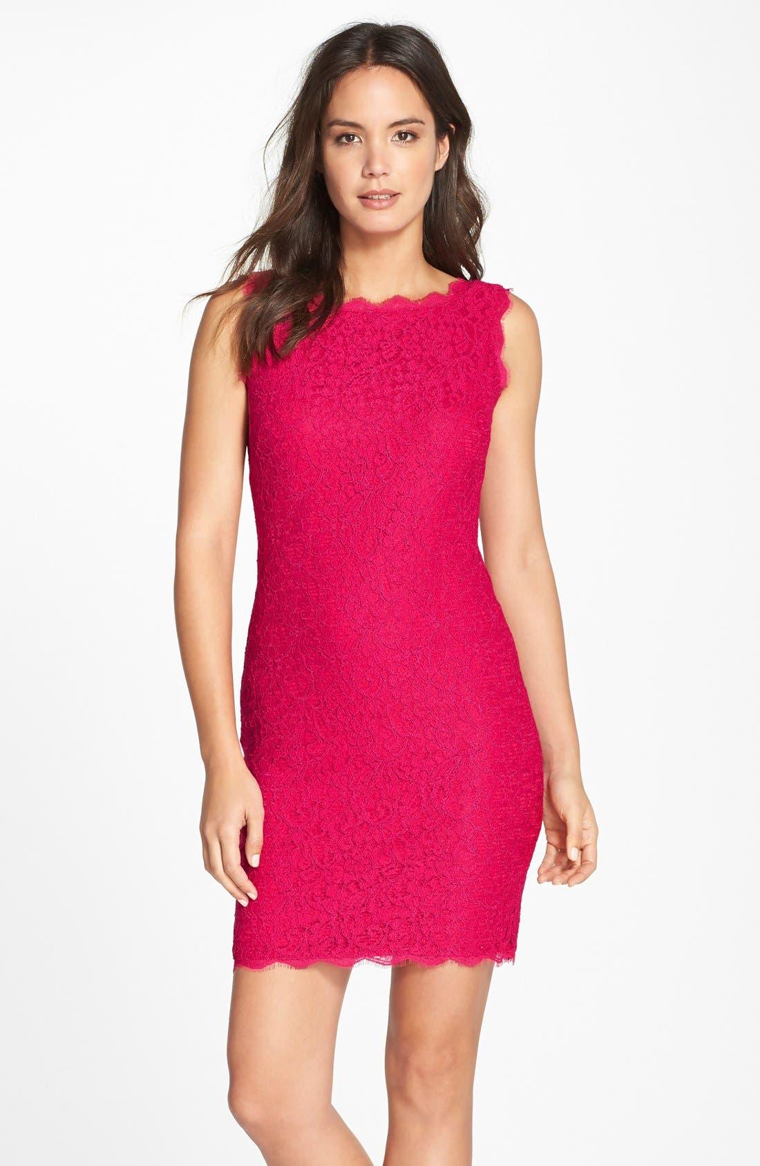 Boatneck Lace Sheath Dress,                             Main thumbnail 25, color,