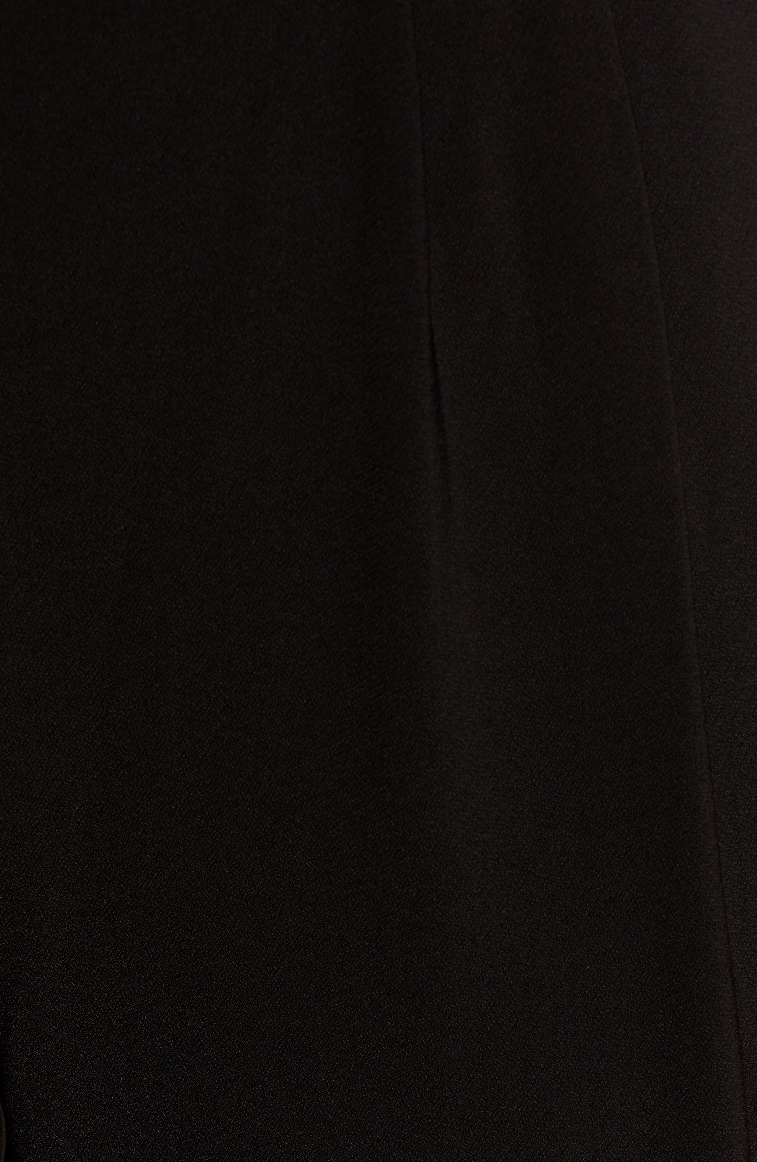 Pleat Front Trousers,                             Alternate thumbnail 6, color,                             BLACK
