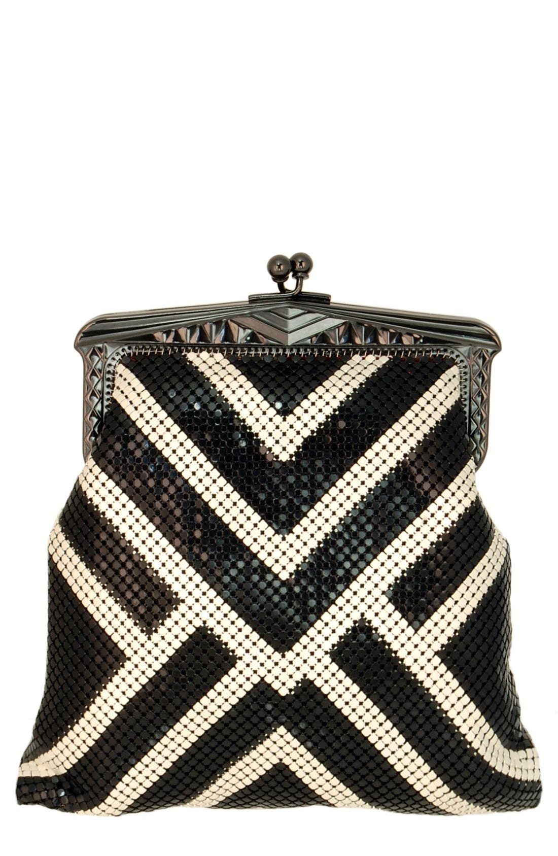 'Heritage - Poiret' Mesh Clutch,                         Main,                         color, 001