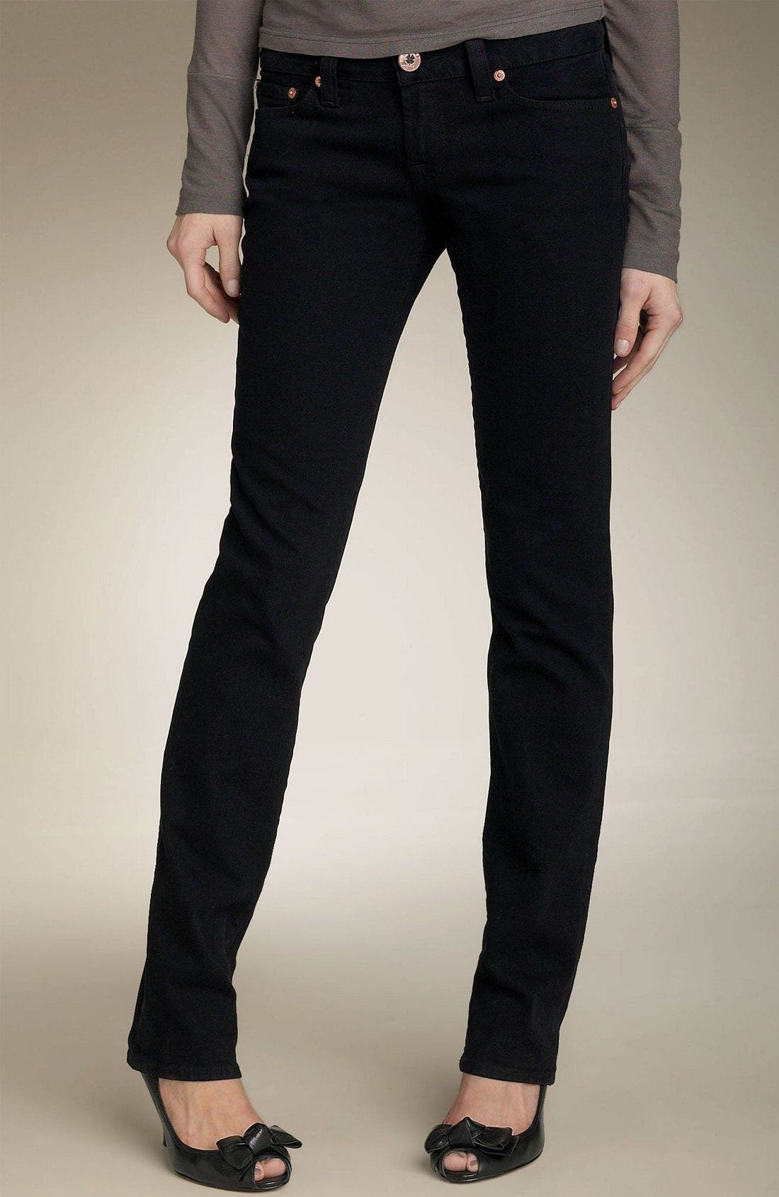 'Lola' Skinny Stretch Jeans, Main, color, JET