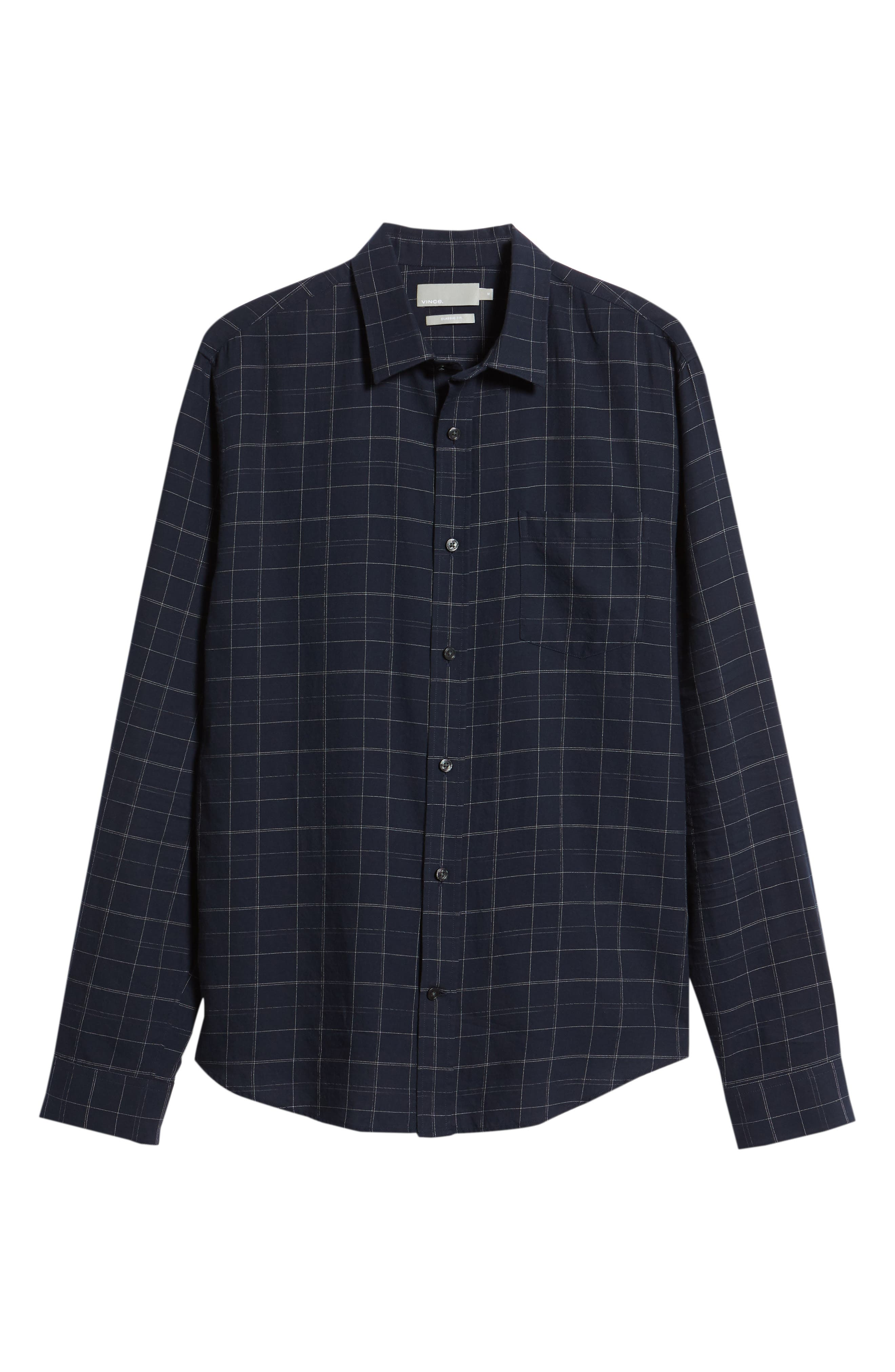 Classic Fit Plaid Sport Shirt,                             Alternate thumbnail 6, color,                             463