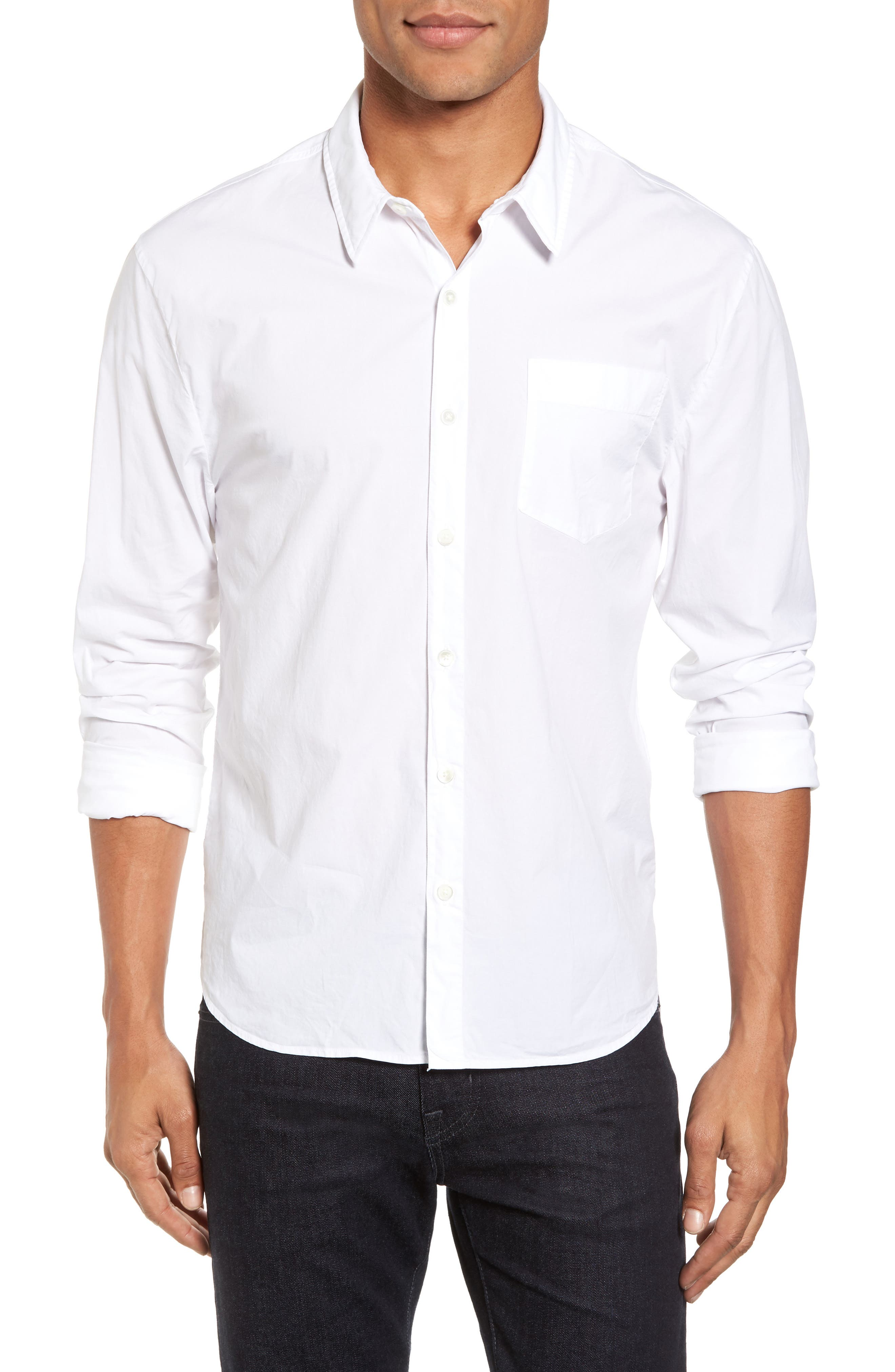 Relaxed Fit Sport Shirt,                         Main,                         color, 100